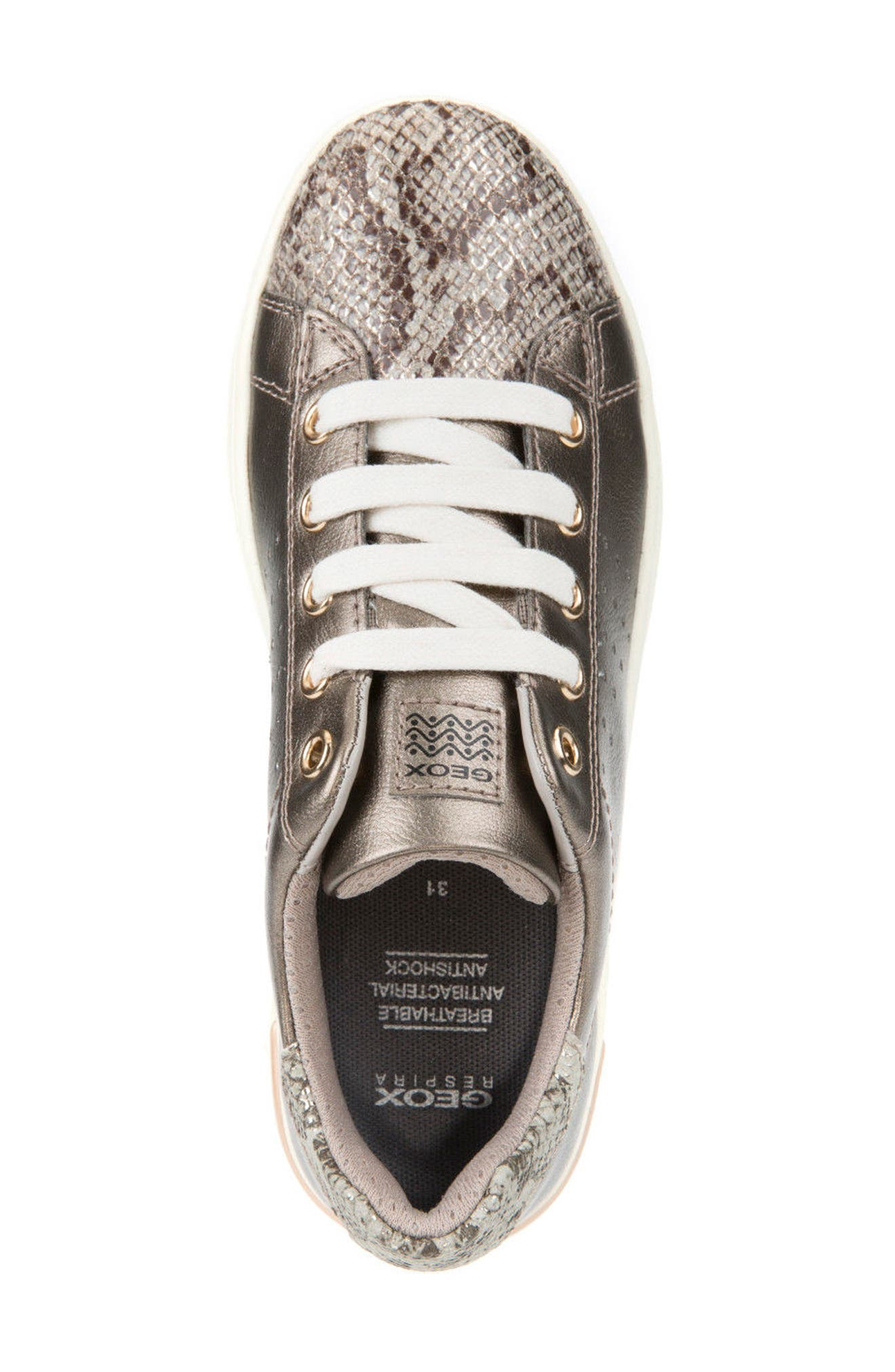 Cave Up Girl Low Top Sneaker,                             Alternate thumbnail 5, color,                             Gold