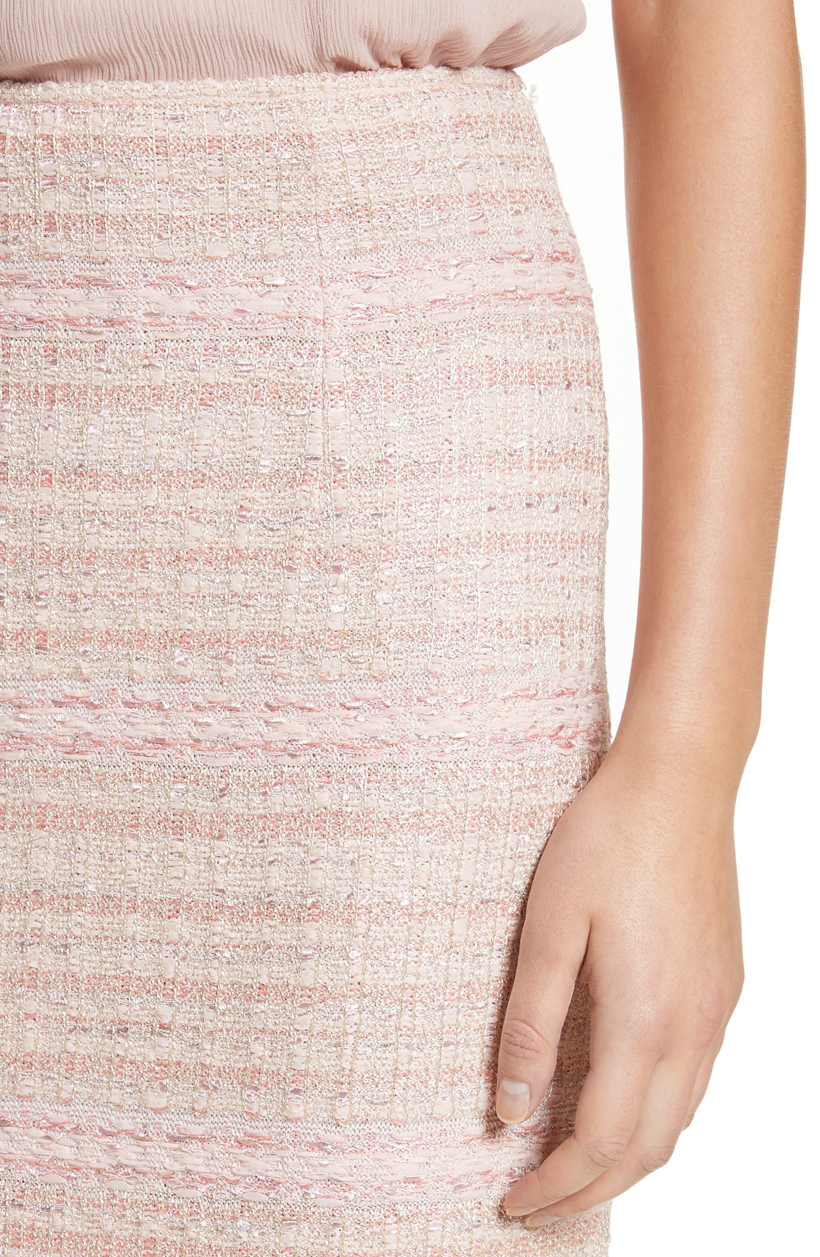 Alternate Image 4  - St. John Collection Guilded Pastel Knit Skirt