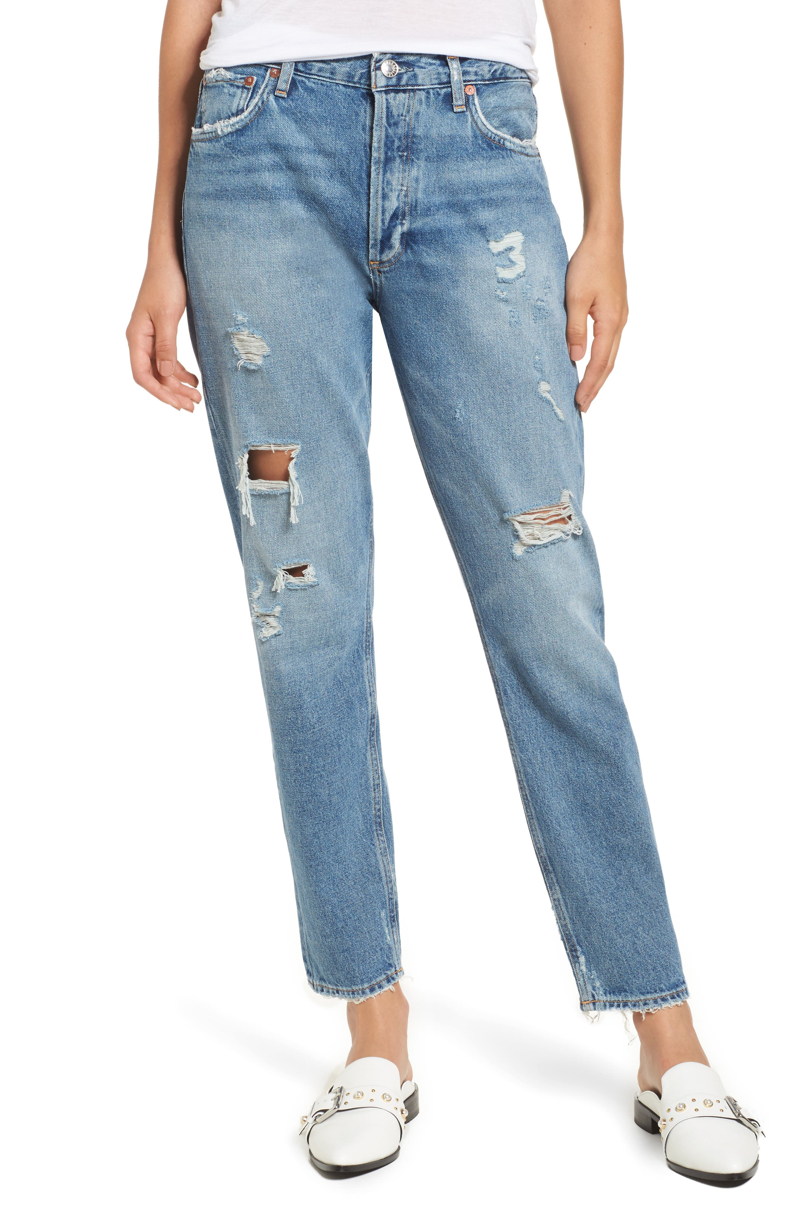 AGOLDE Jamie High Rise Classic Jeans (Isolation)