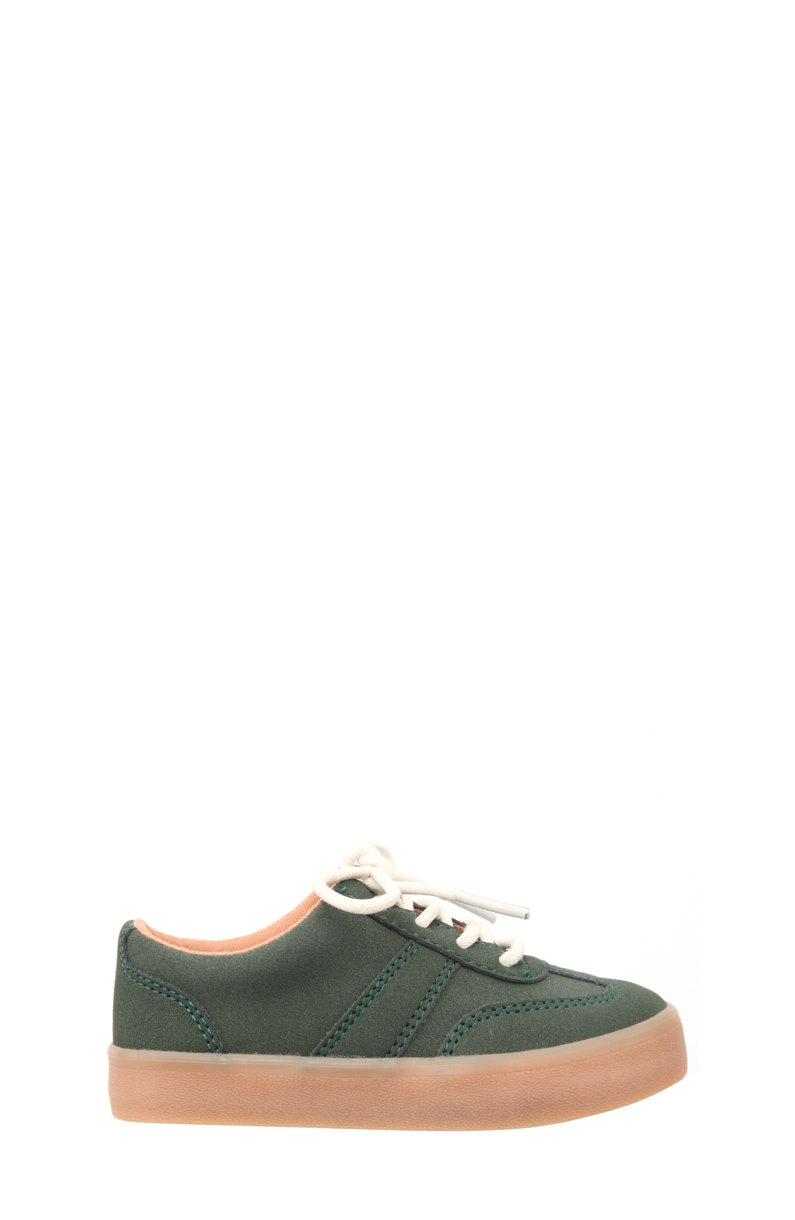 Neal Low Top Sneaker,                             Alternate thumbnail 3, color,                             Olive Suede