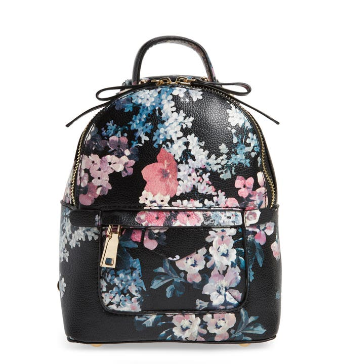BP. Mini Floral Faux Leather Mini Backpack | Nordstrom