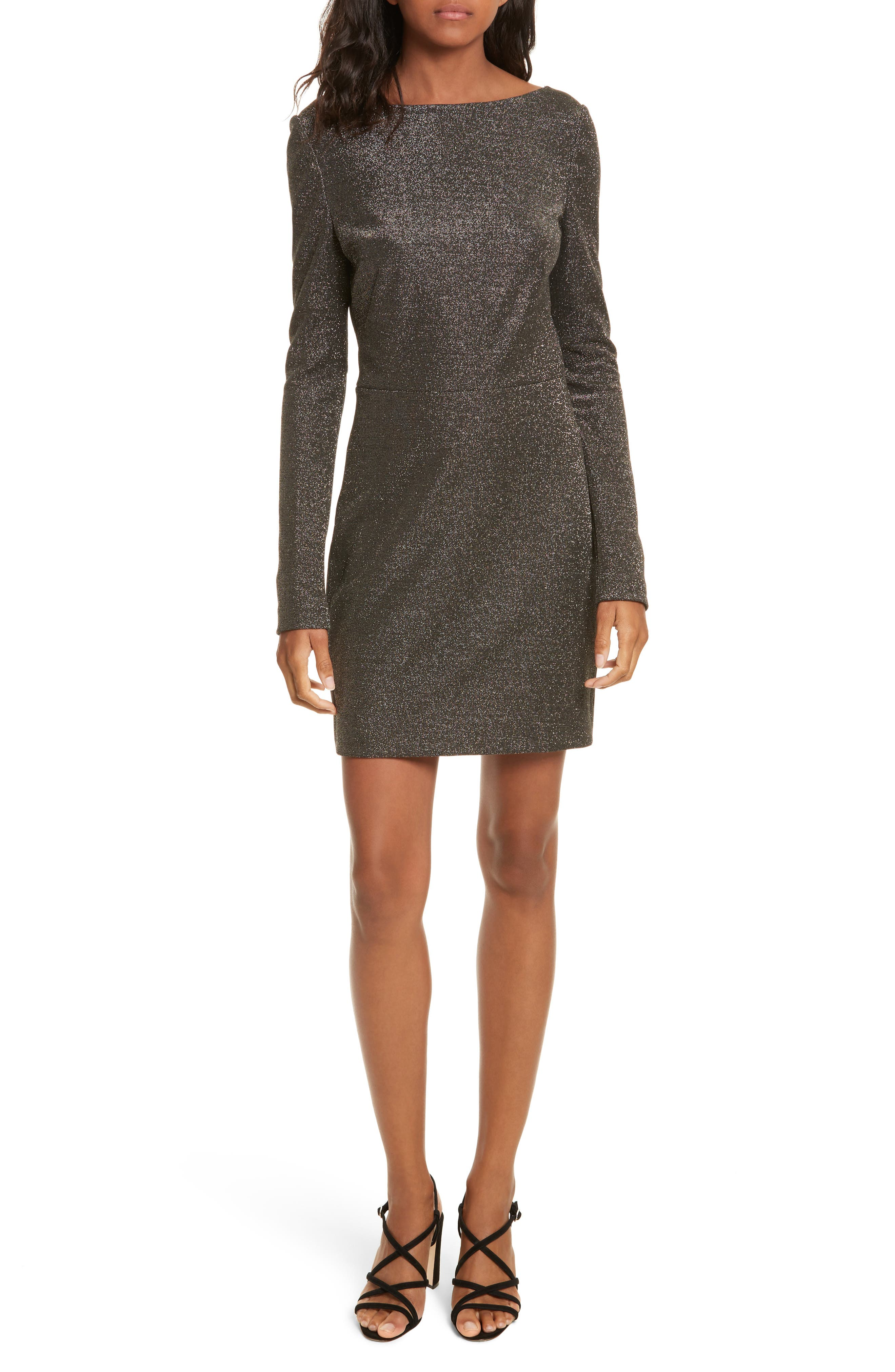 Diane von Furstenberg Sparkle Sheath Minidress,                             Main thumbnail 1, color,                             Black