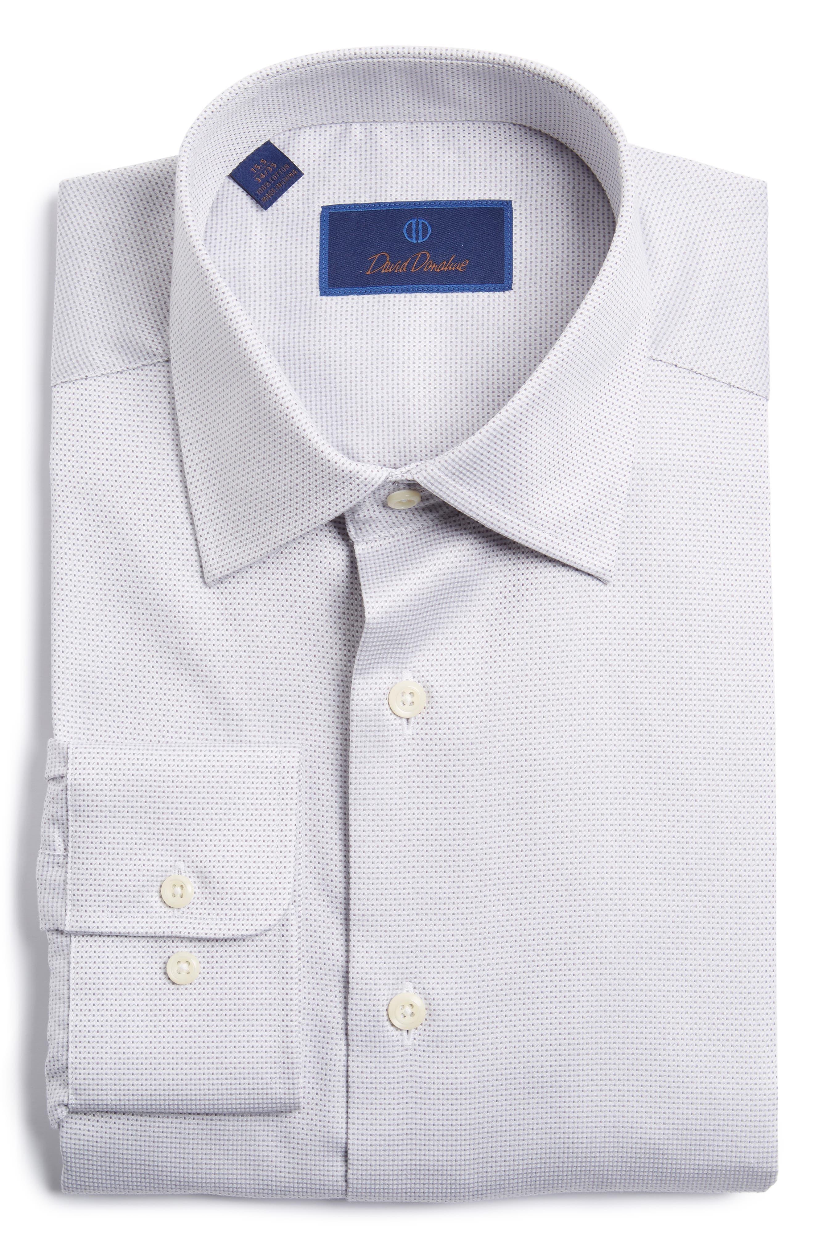 Regular Fit Dress Shirt,                         Main,                         color, Grey