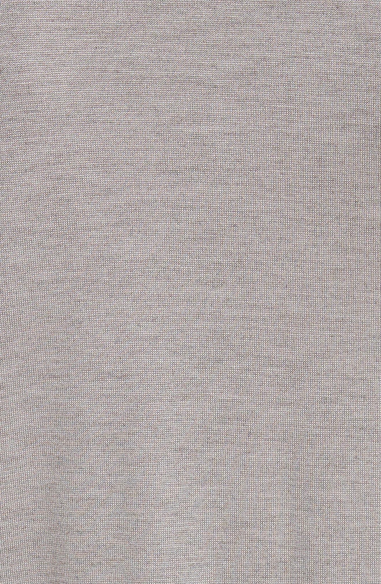 Alternate Image 6  - St. John Collection Silk Georgette & Jersey Asymmetrical Blouse