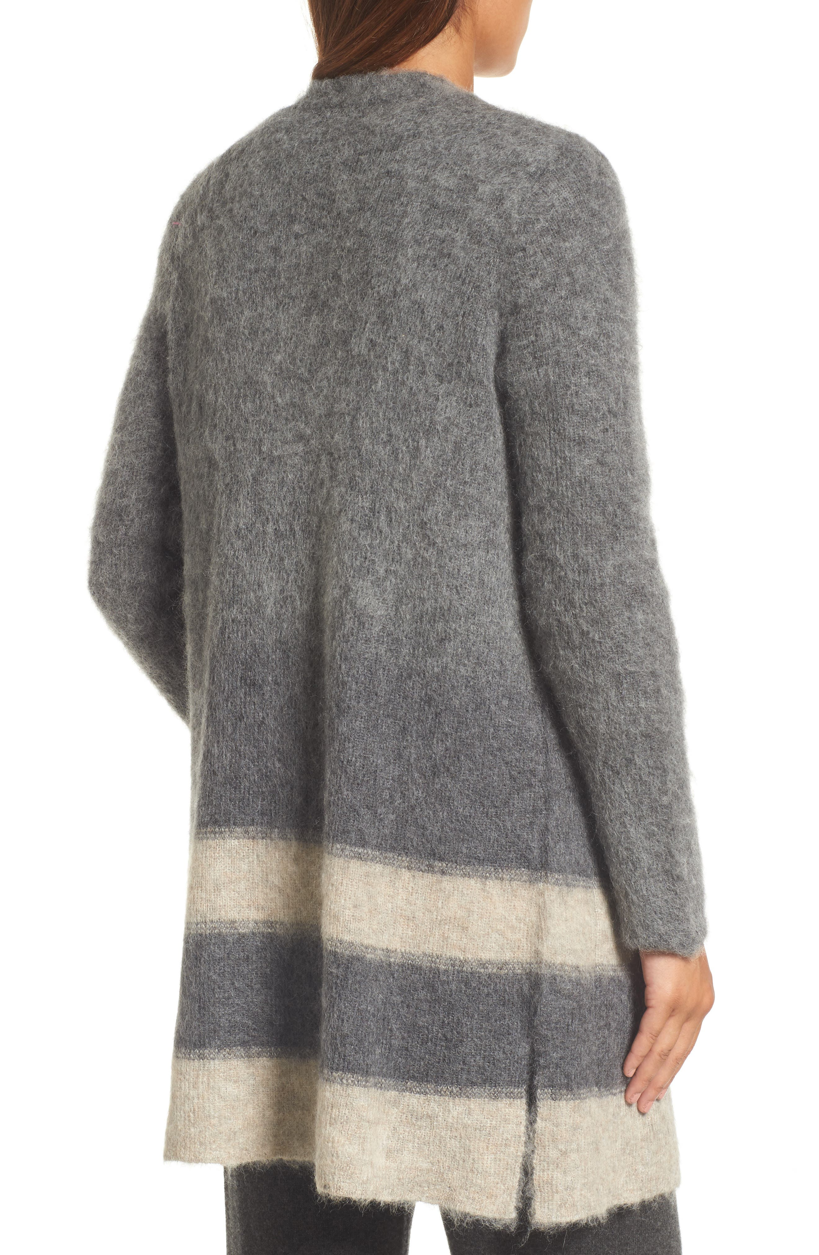 Long Open-Front Cardigan,                             Alternate thumbnail 2, color,                             Maple Oat