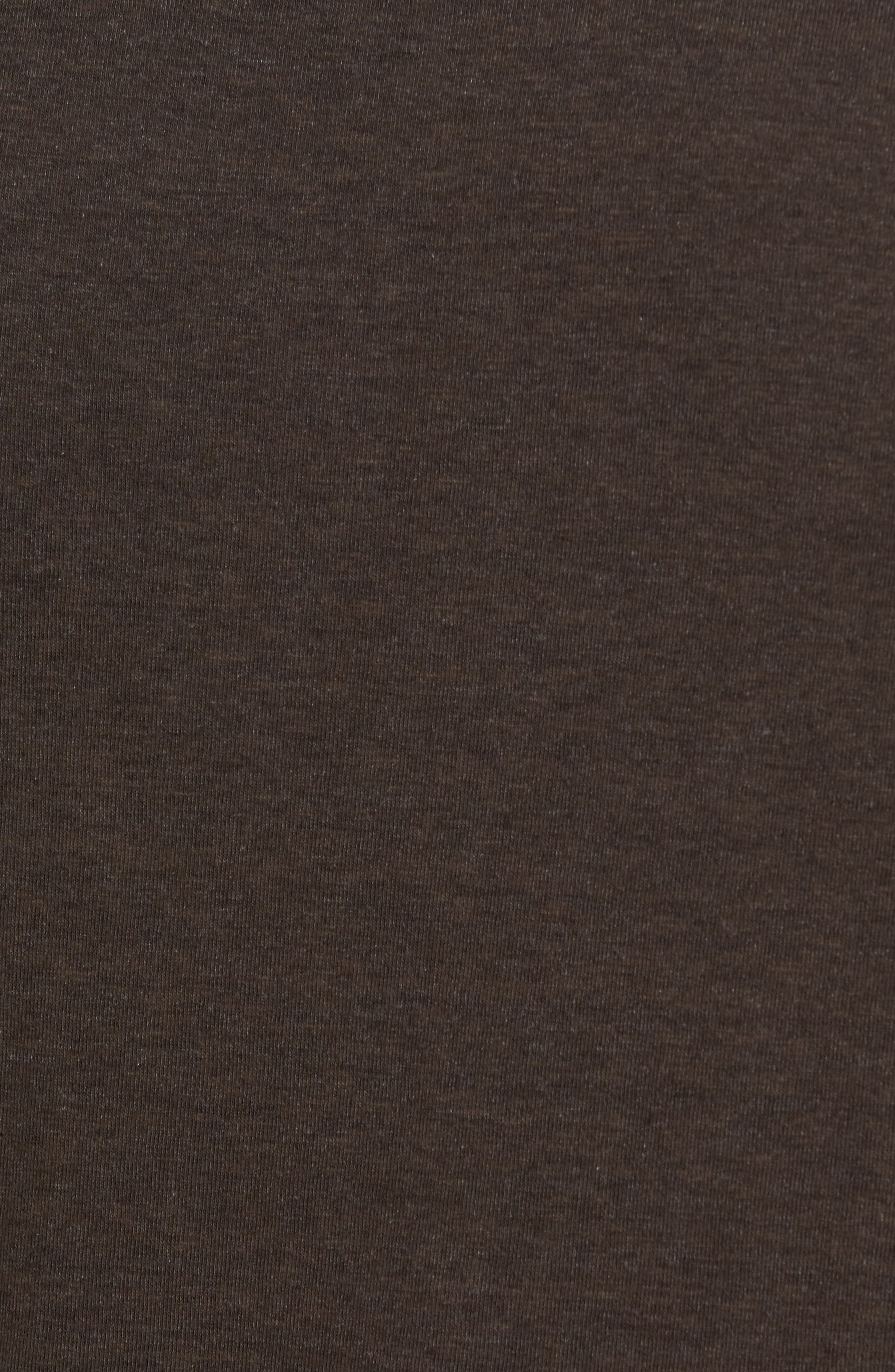 Crewneck Heathered T-Shirt,                             Alternate thumbnail 6, color,                             Espresso