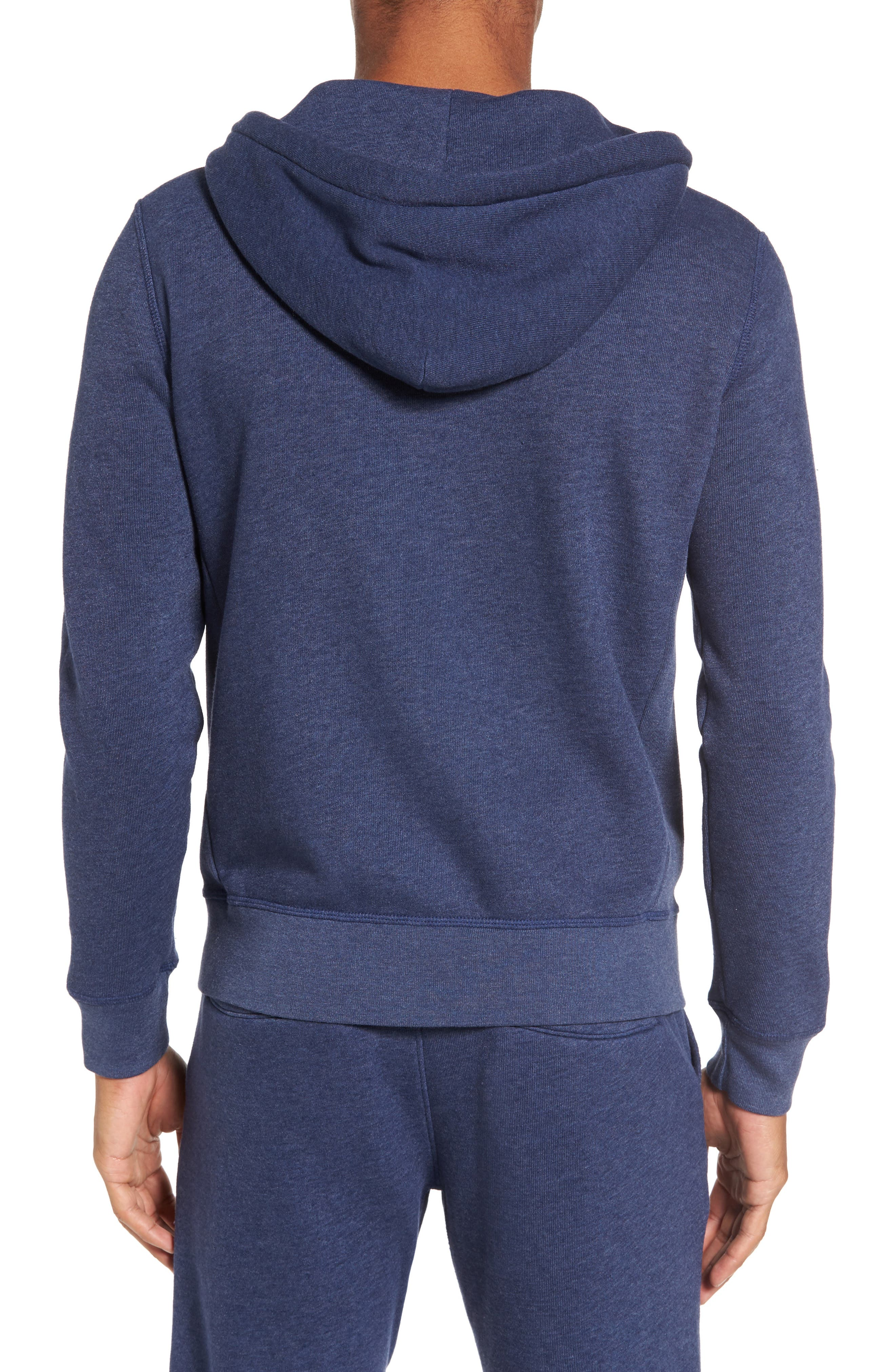 Zip Front Hoodie,                             Alternate thumbnail 2, color,                             Goodlife Navy