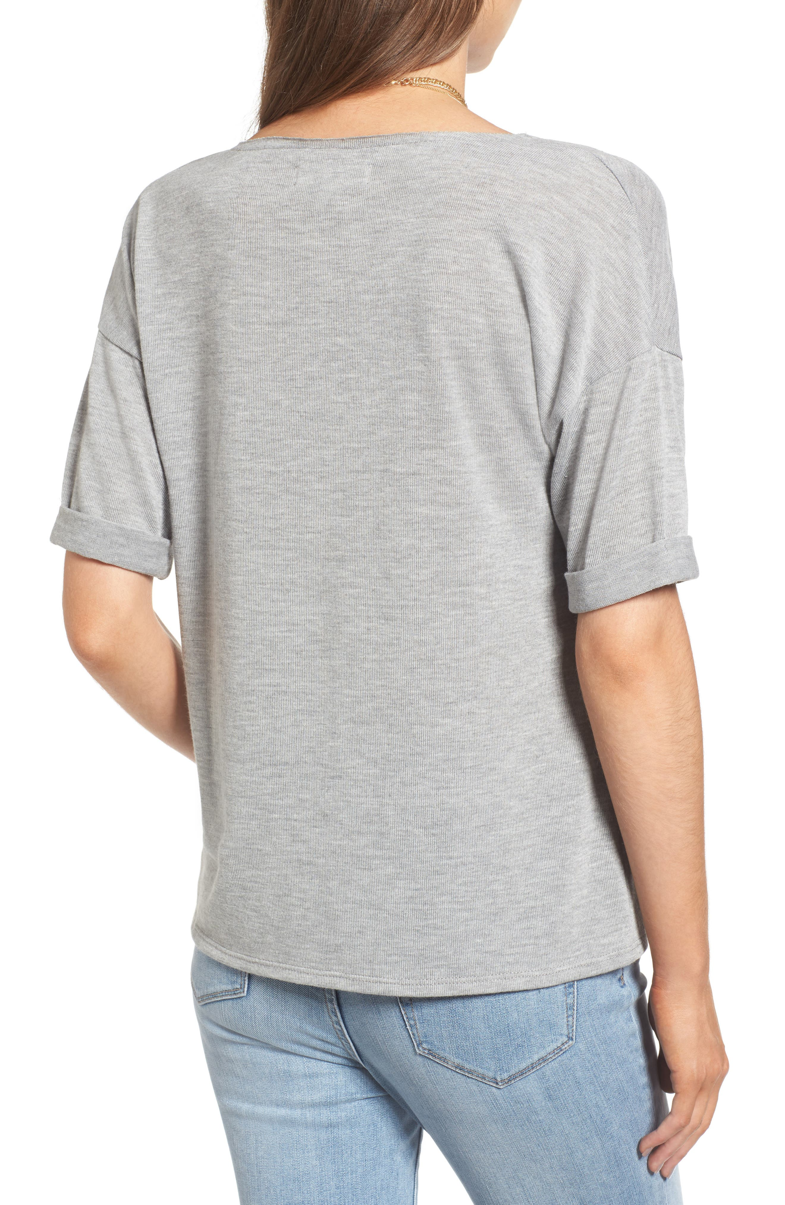 x Something Navy Easy Tee,                             Alternate thumbnail 3, color,                             Grey Heather