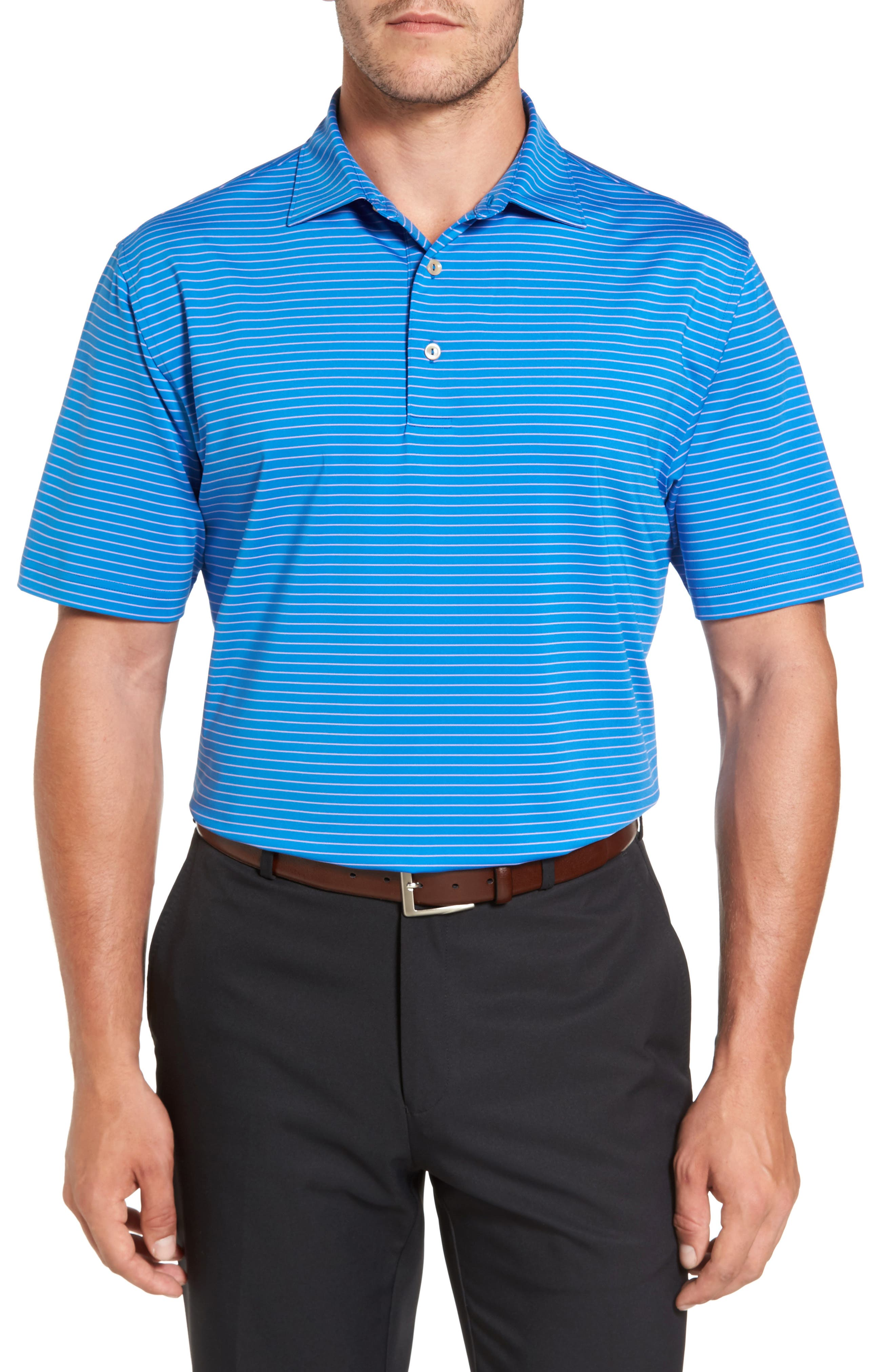 Stripe Polo,                         Main,                         color, Parisian Blue