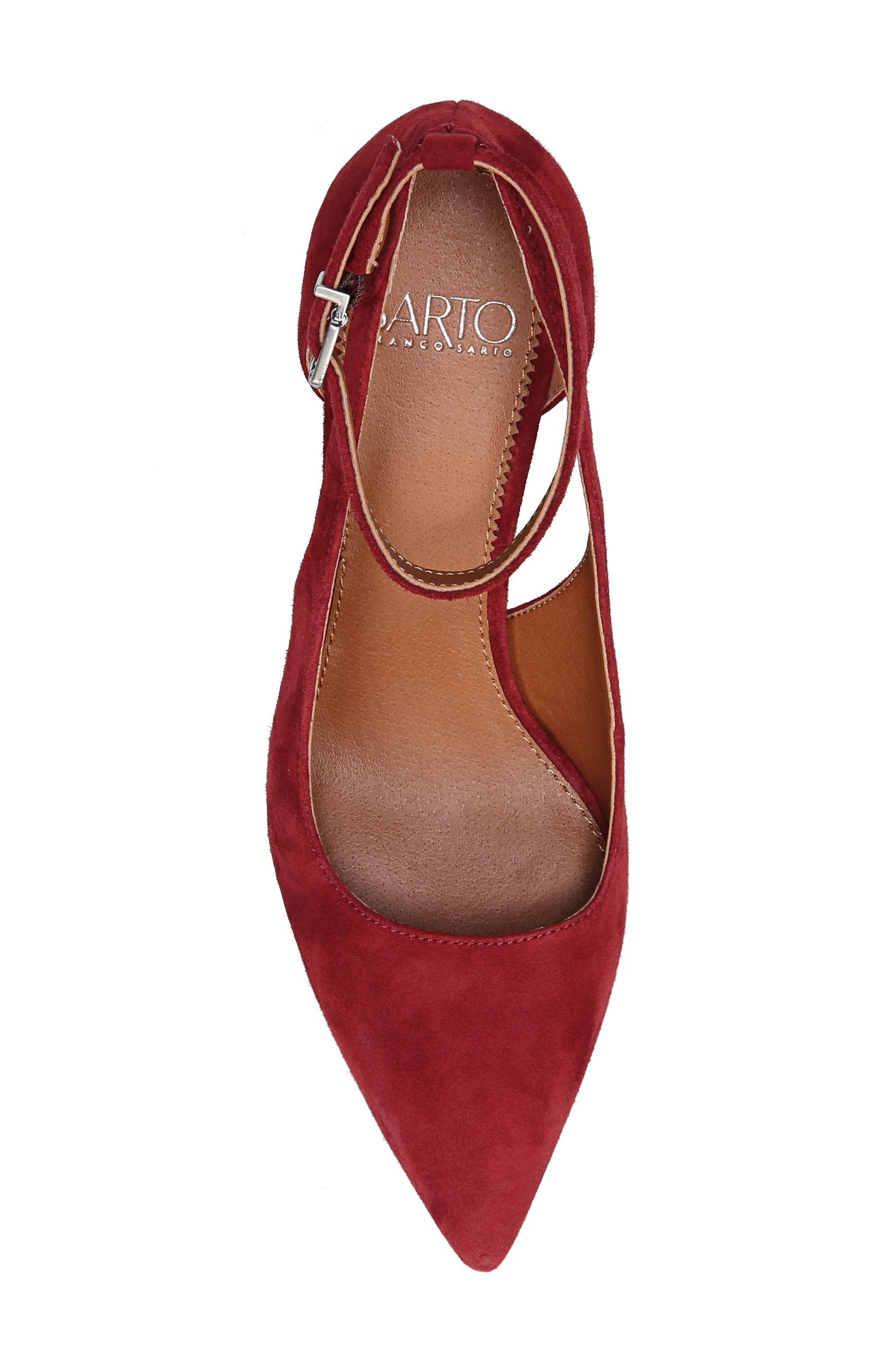 Kalindi Pump,                             Alternate thumbnail 5, color,                             Syrah Suede