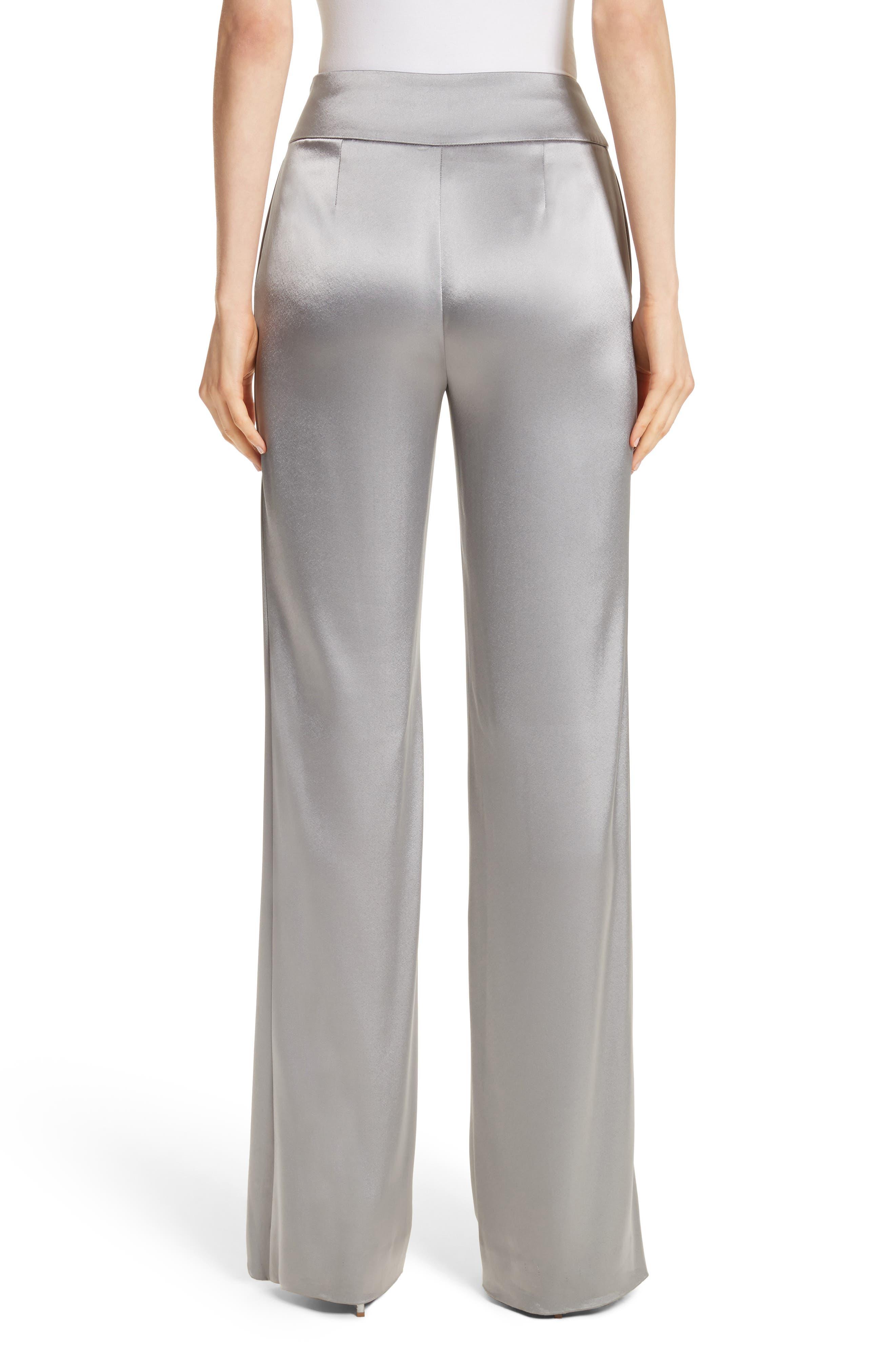 Liquid Satin Pants,                             Alternate thumbnail 2, color,                             Grey