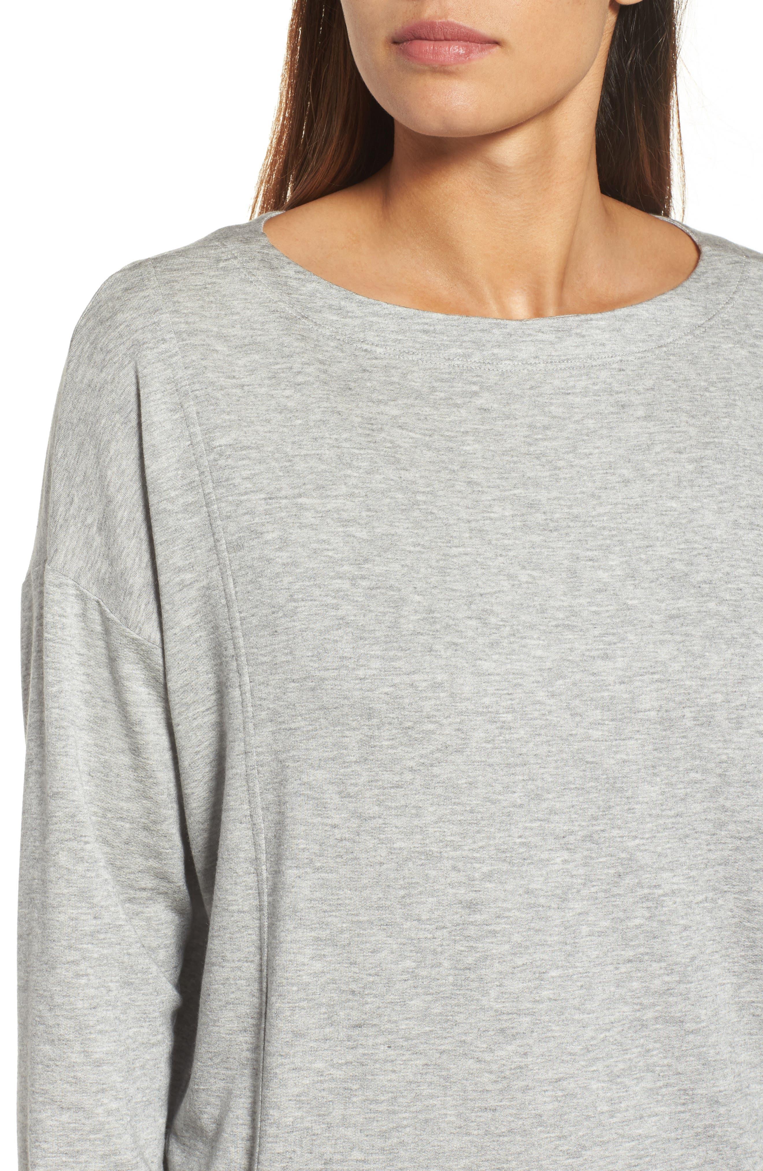 Alternate Image 4  - Eileen Fisher Bateau Neck Sweater
