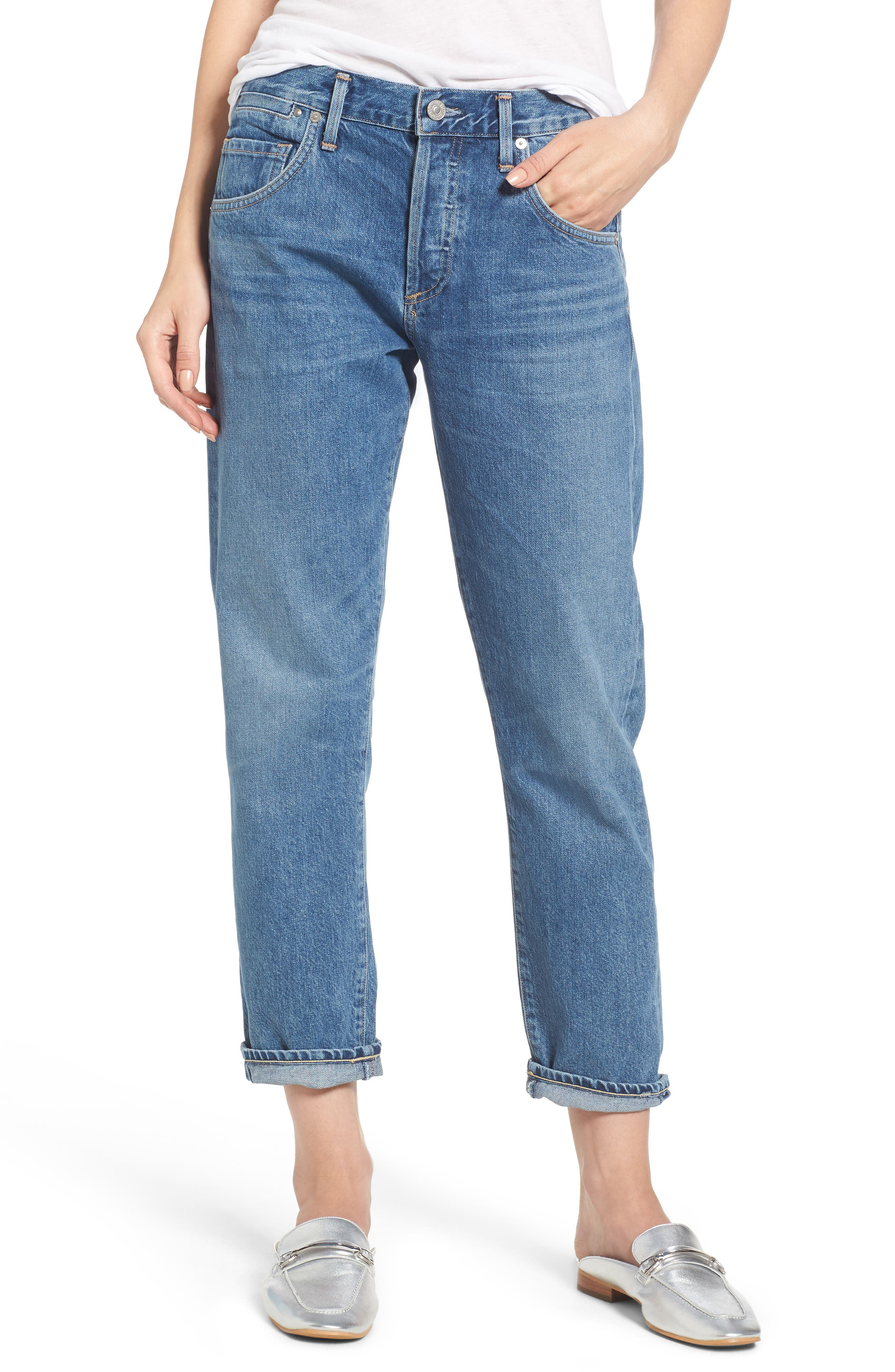 Emerson Slim Boyfriend Jeans,                             Main thumbnail 1, color,                             Dream On