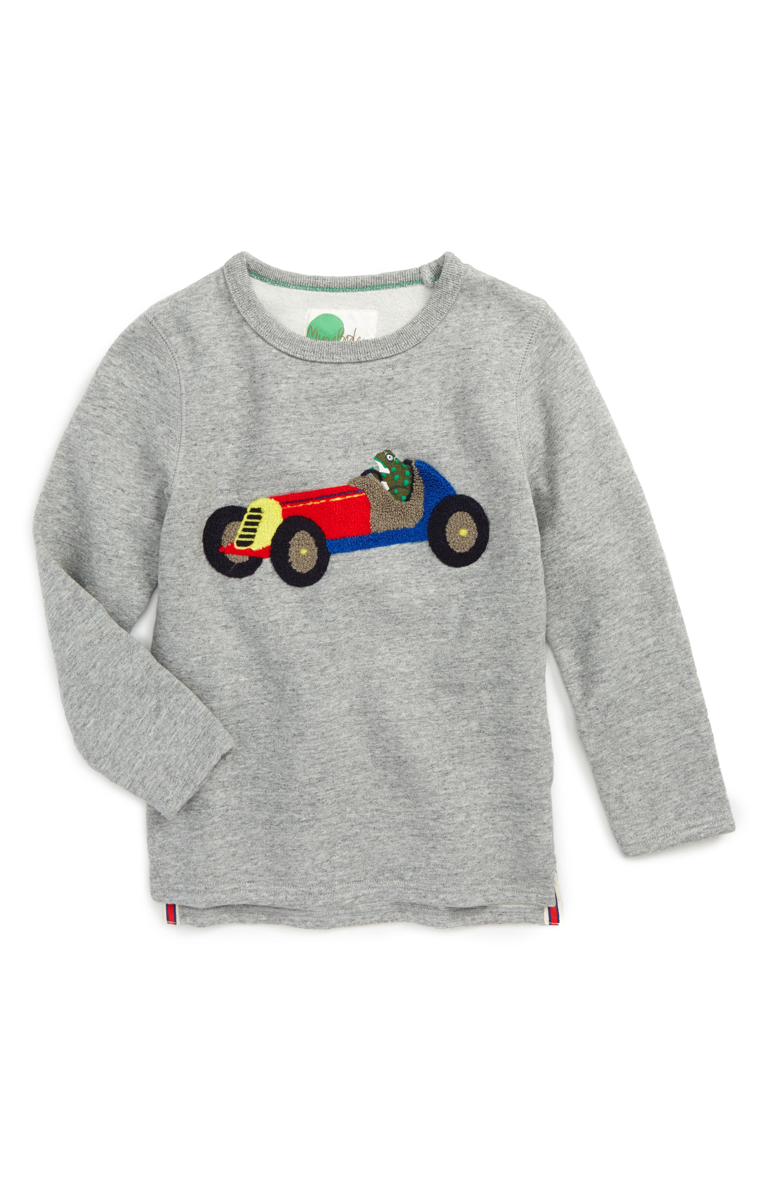 Open Road Sweatshirt,                         Main,                         color, Grey Marl Racing Car
