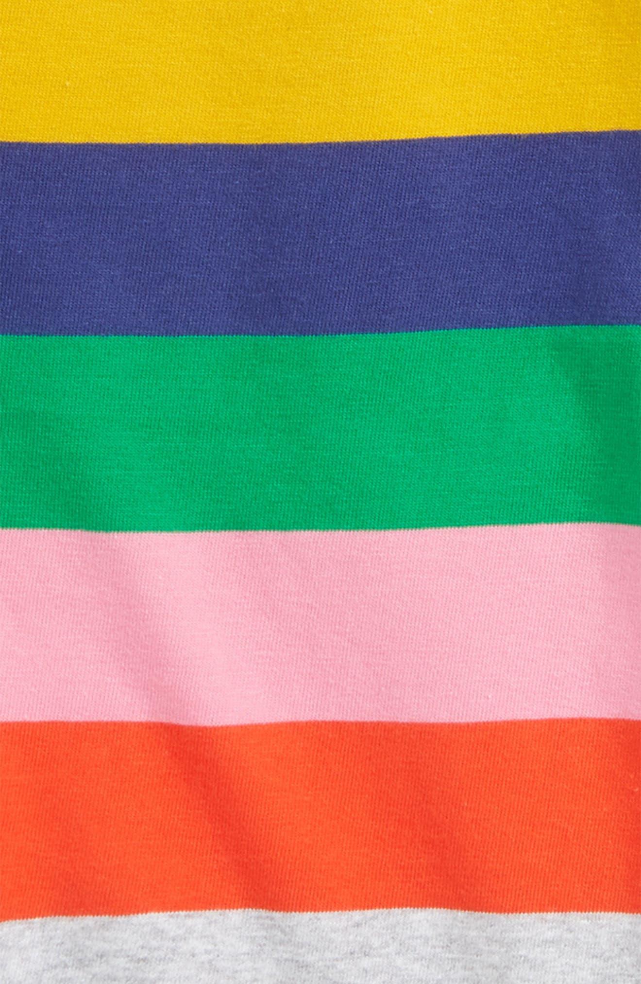 Alternate Image 2  - Mini Boden Colourfully Stripy Tee (Toddler Girls, Little Girls & Big Girls)