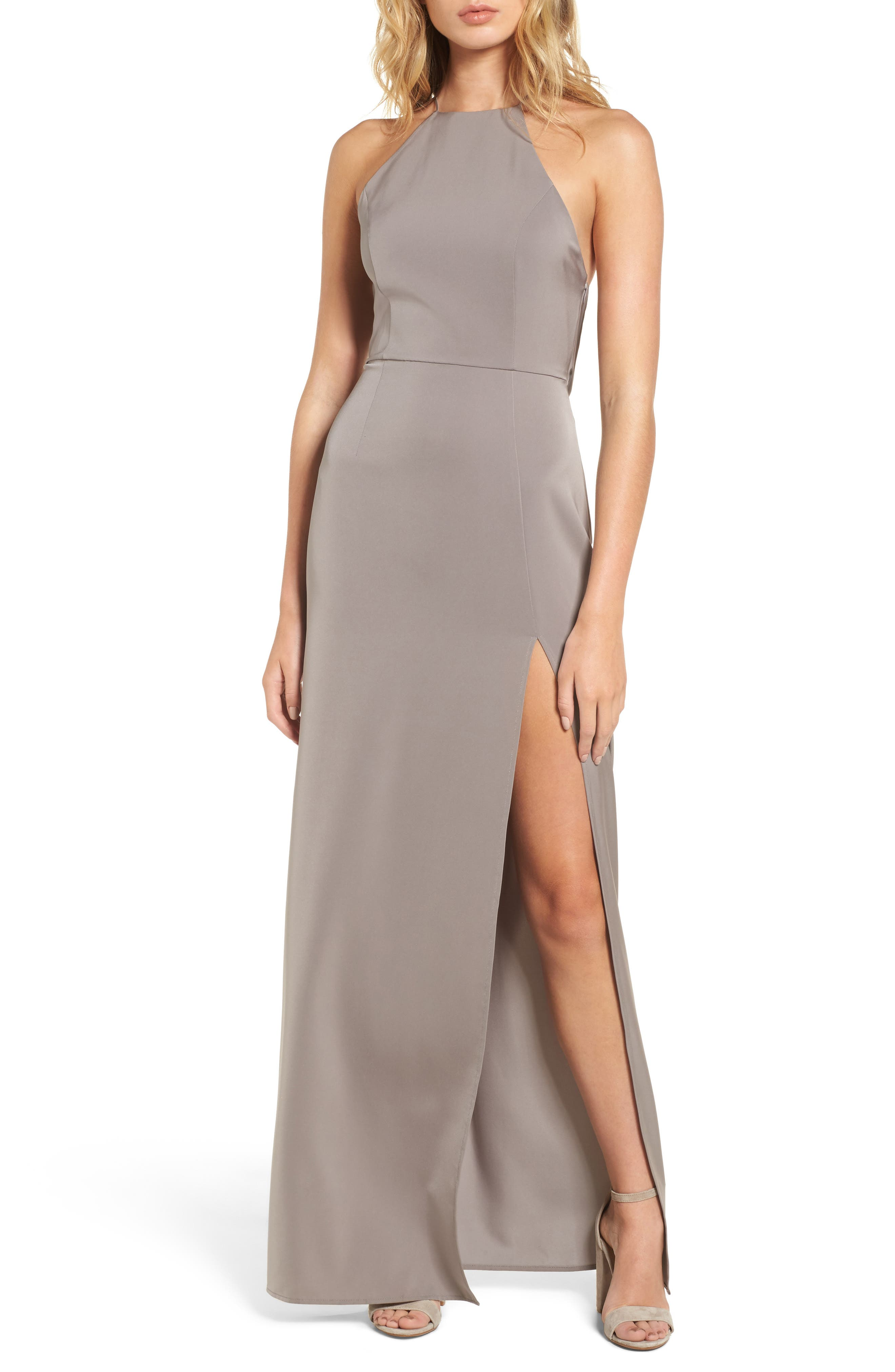 Lovers + Friends Sheyla Halter Gown