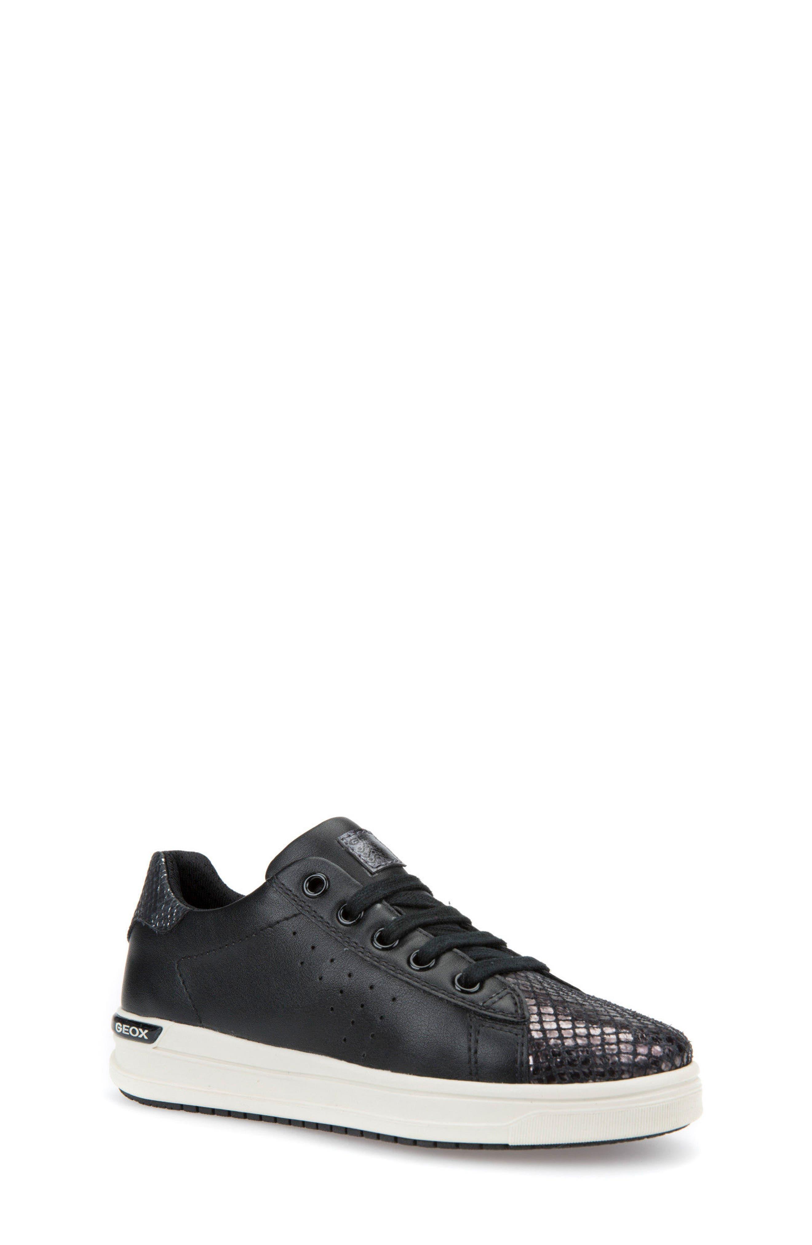 Cave Up Girl Low Top Sneaker,                             Main thumbnail 1, color,                             Black