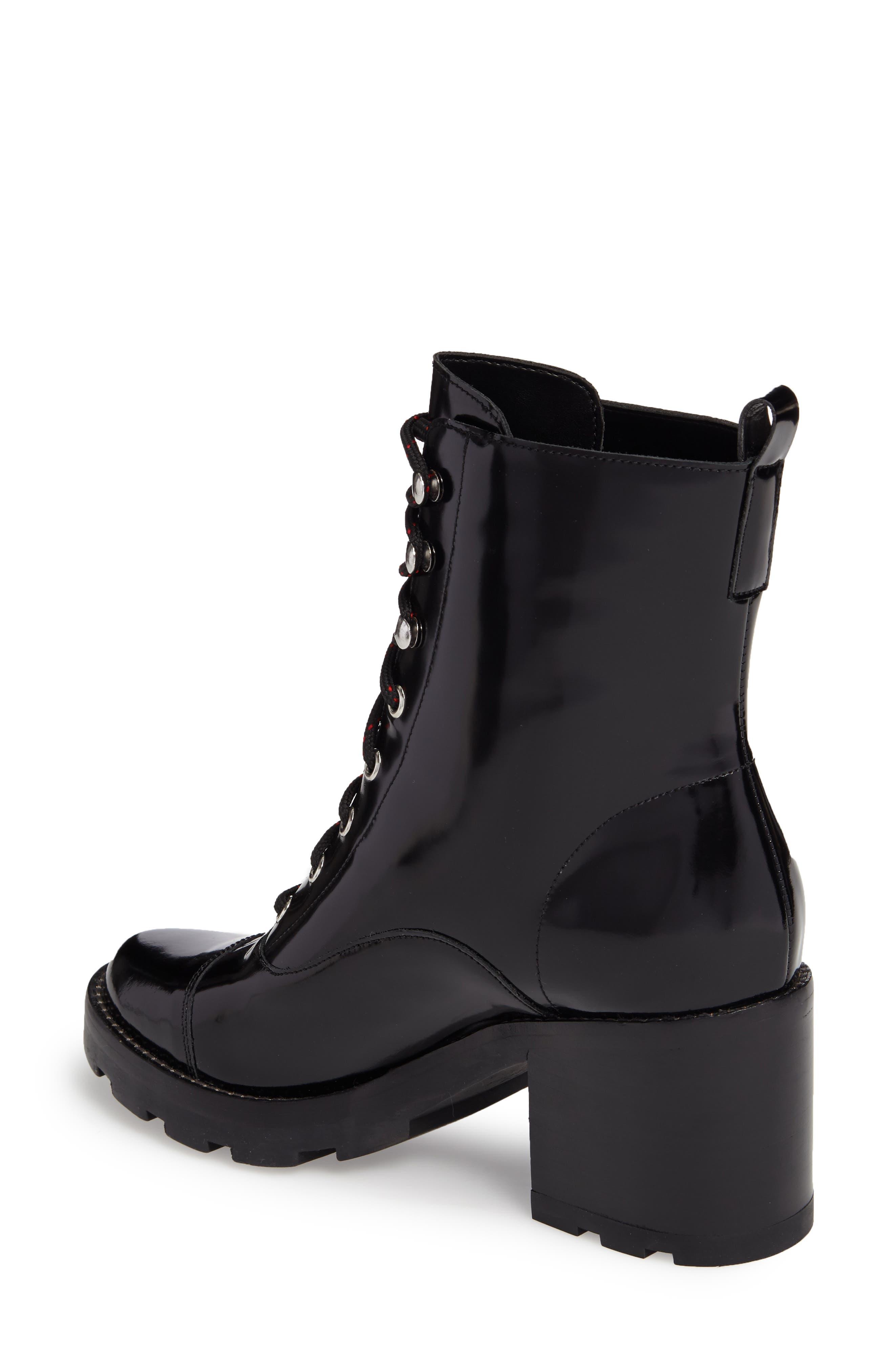 Wanya Boot,                             Alternate thumbnail 2, color,                             Black Leather