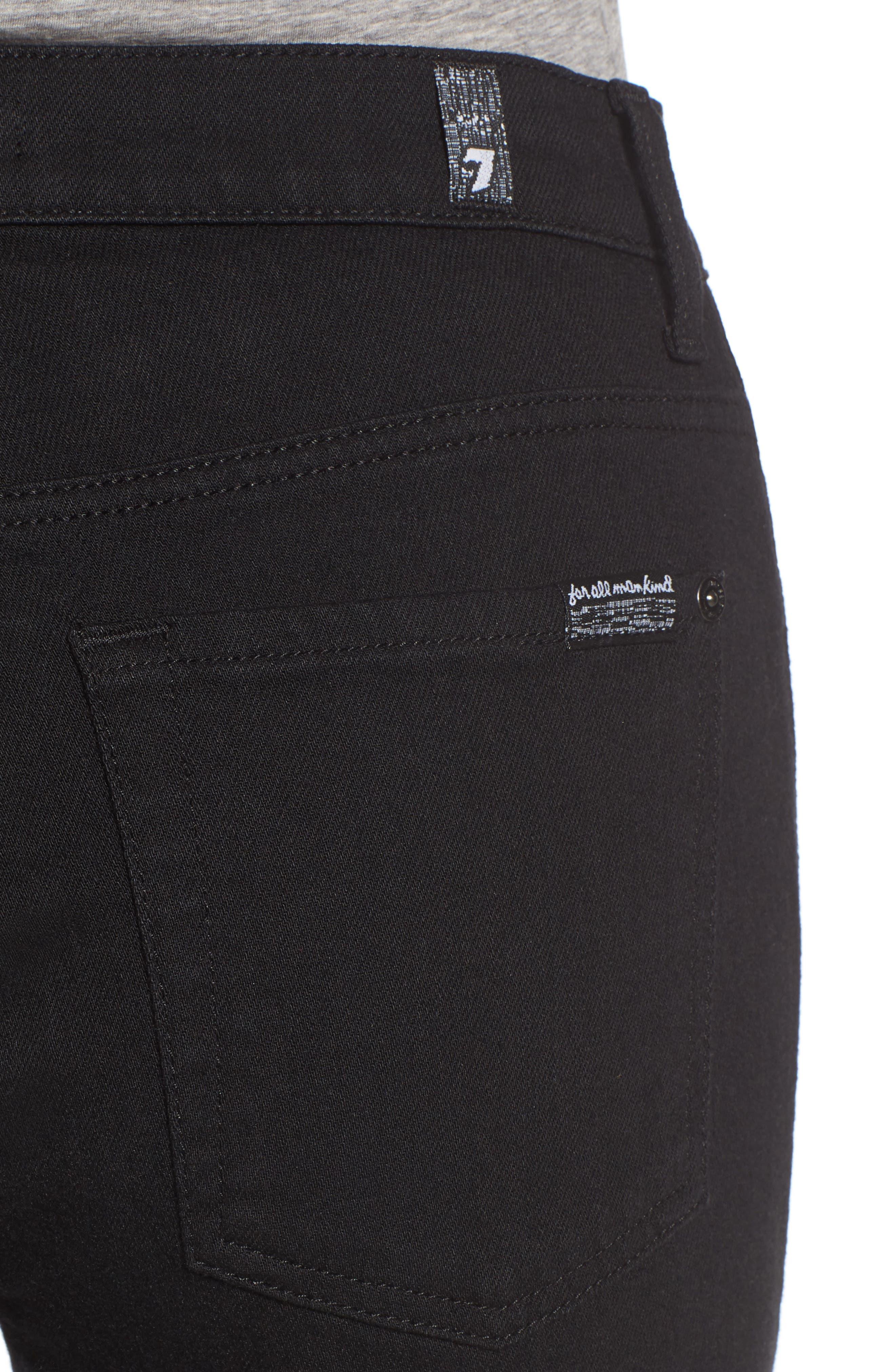 Alternate Image 4  - 7 For All Mankind® Priscilla High Waist Crop Flare Jeans (Night Black)