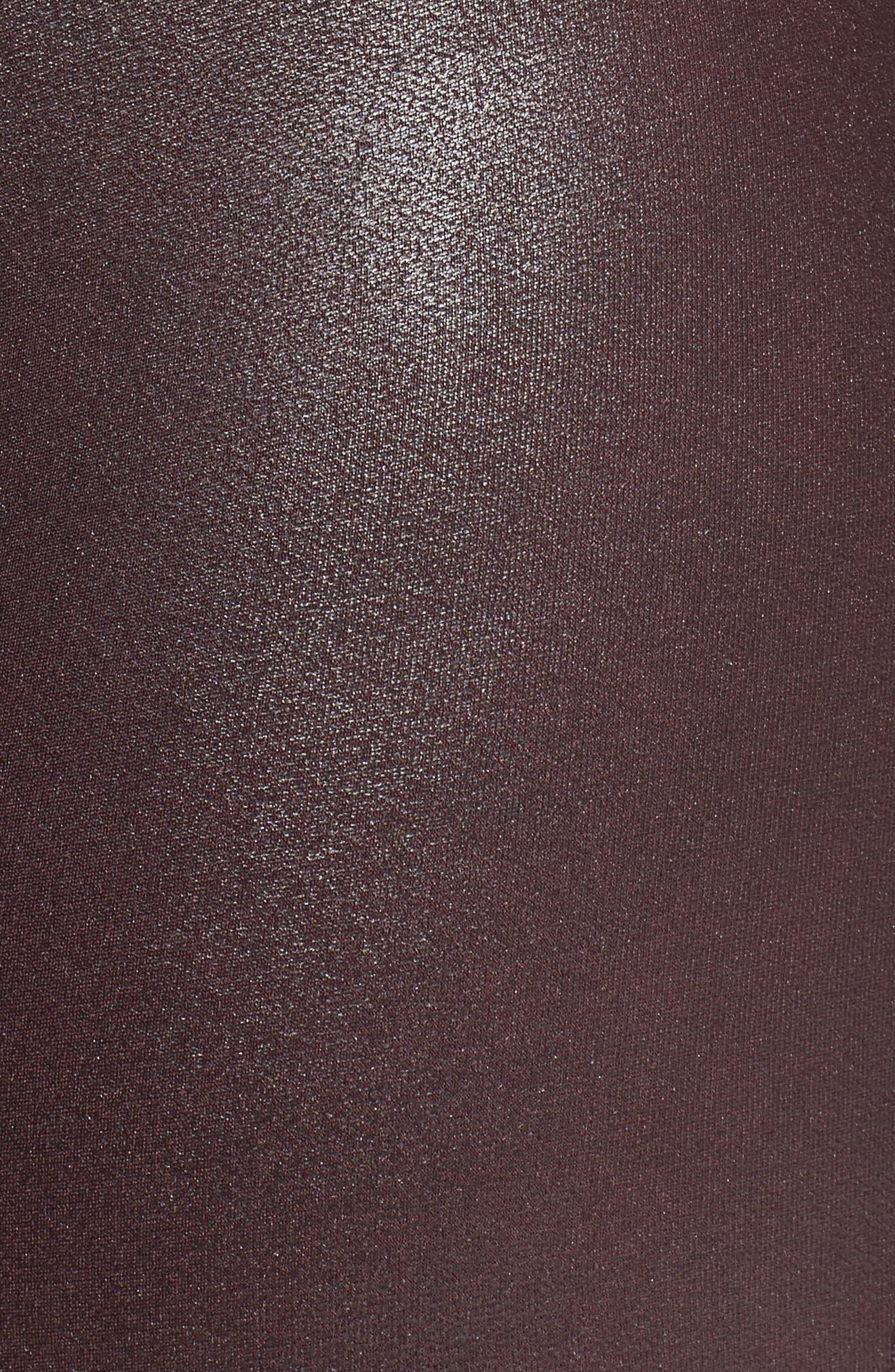 Faux Leather Leggings,                             Alternate thumbnail 7, color,                             Wine