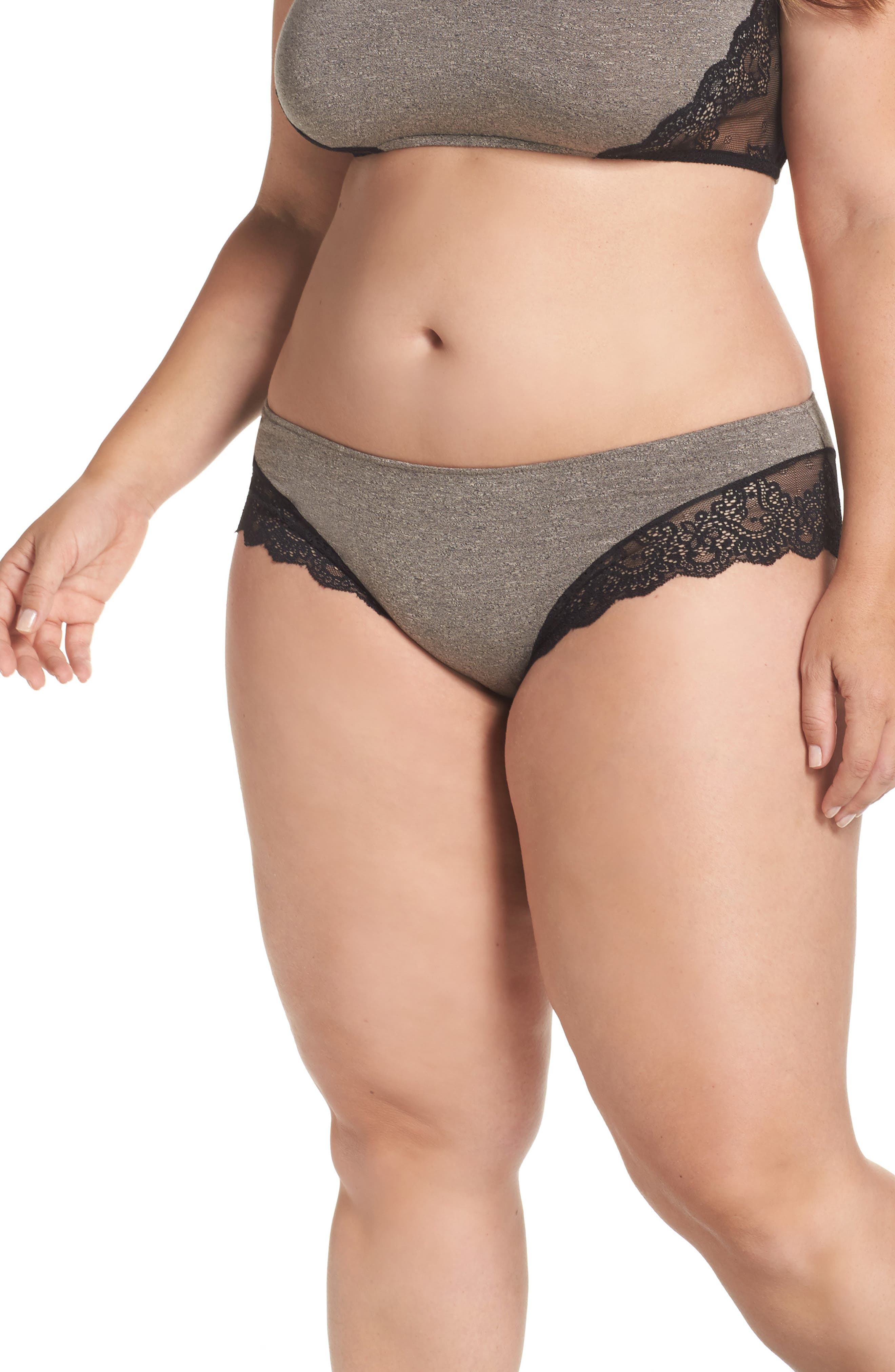 So Fine Hipster Panties,                         Main,                         color, Vintage Stone/ Black