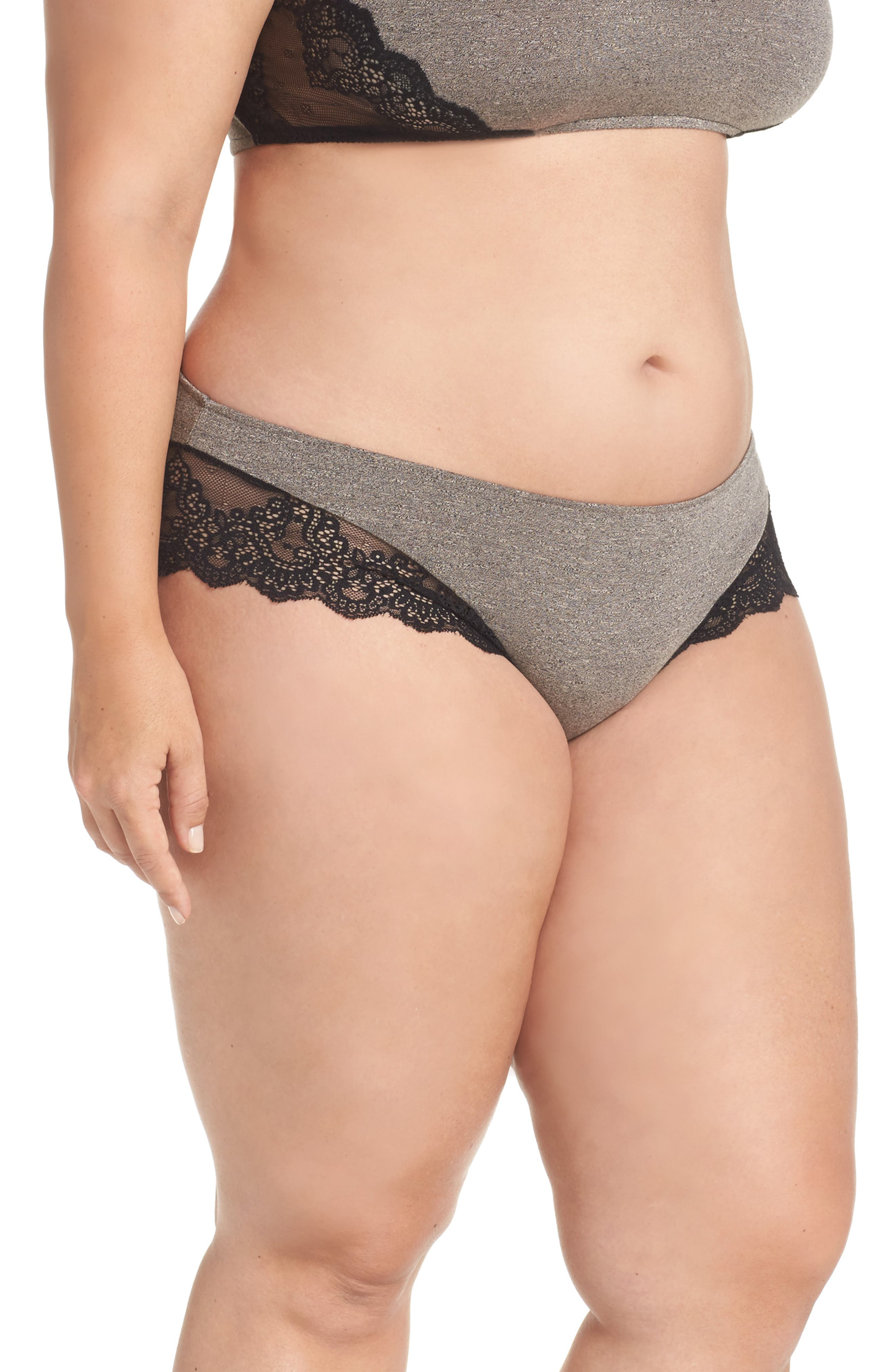 Alternate Image 3  - Only Hearts So Fine Hipster Panties (Plus Size)