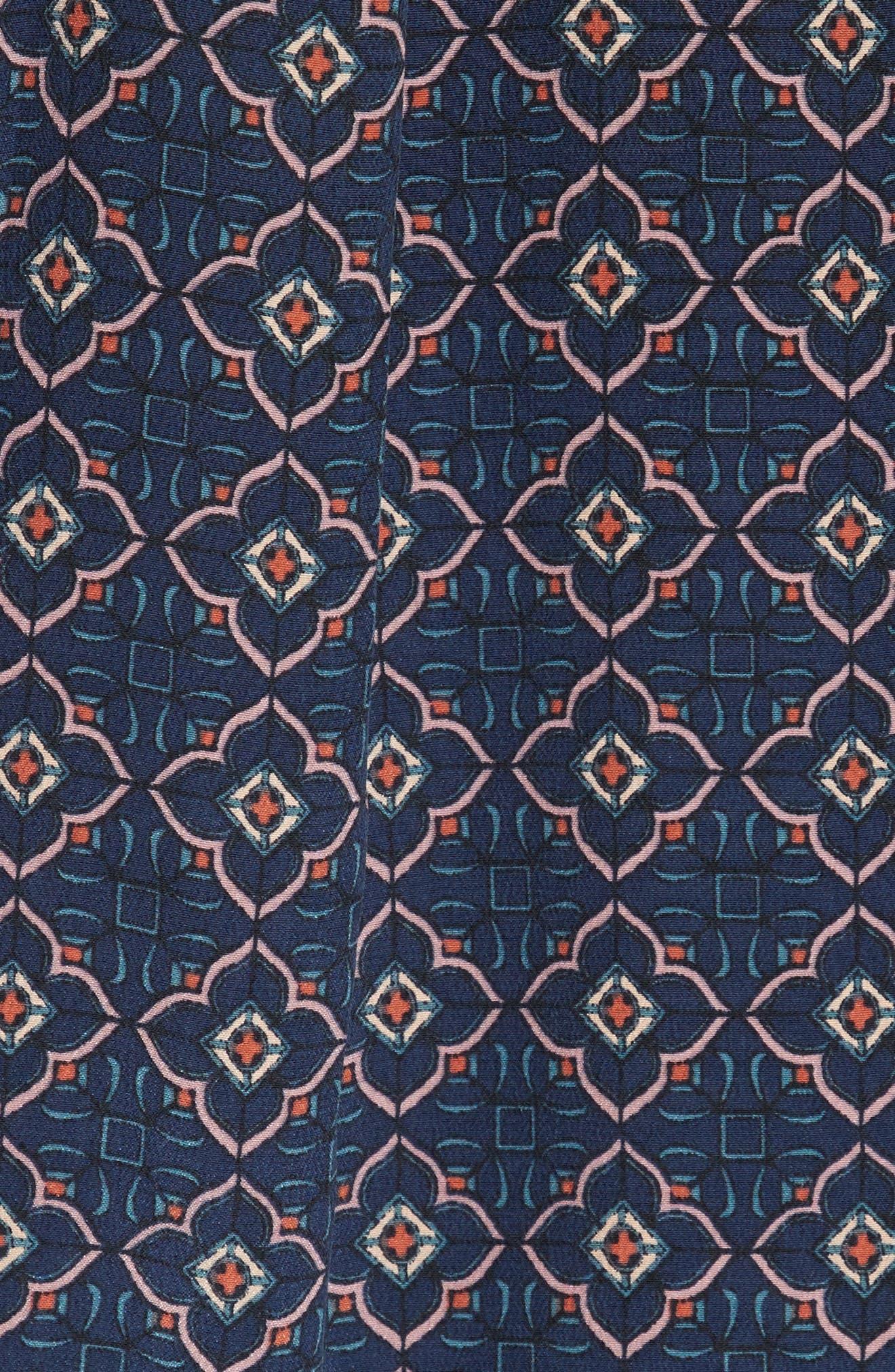 Anatase B Sleeveless Silk Top,                             Alternate thumbnail 5, color,                             Mosaic