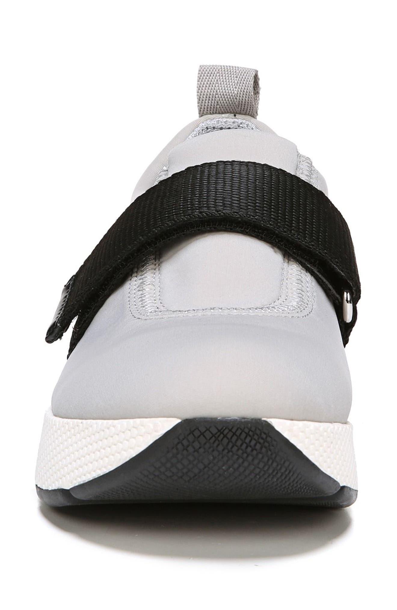 Odella Slip-On Sneaker,                             Alternate thumbnail 4, color,                             Light Grey Fabric
