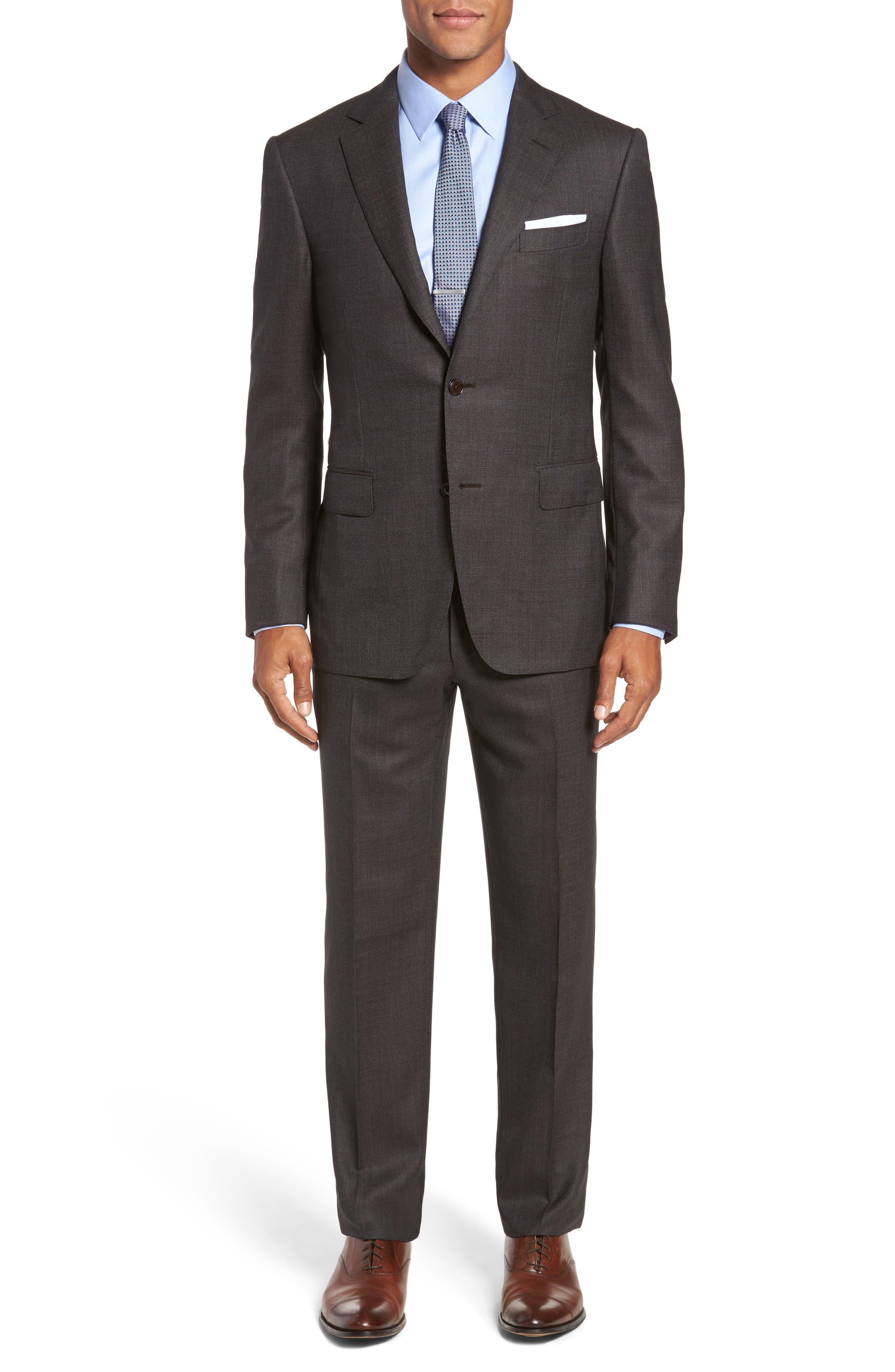 Alternate Image 1 Selected - Pal Zileri Classic Fit Micro Weave Wool Suit