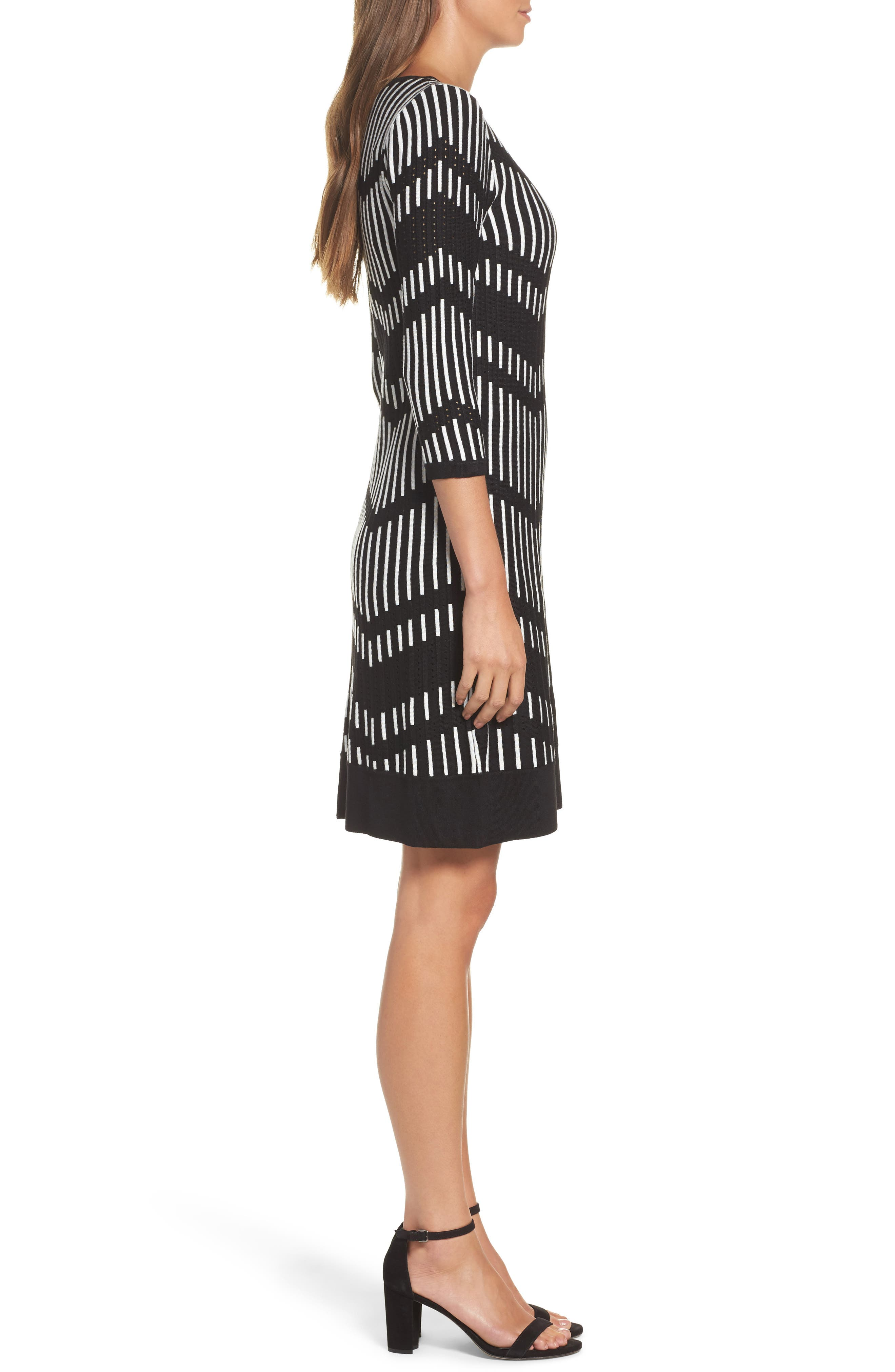 Alternate Image 3  - Taylor Dresses Zig Zag Sweater Dress