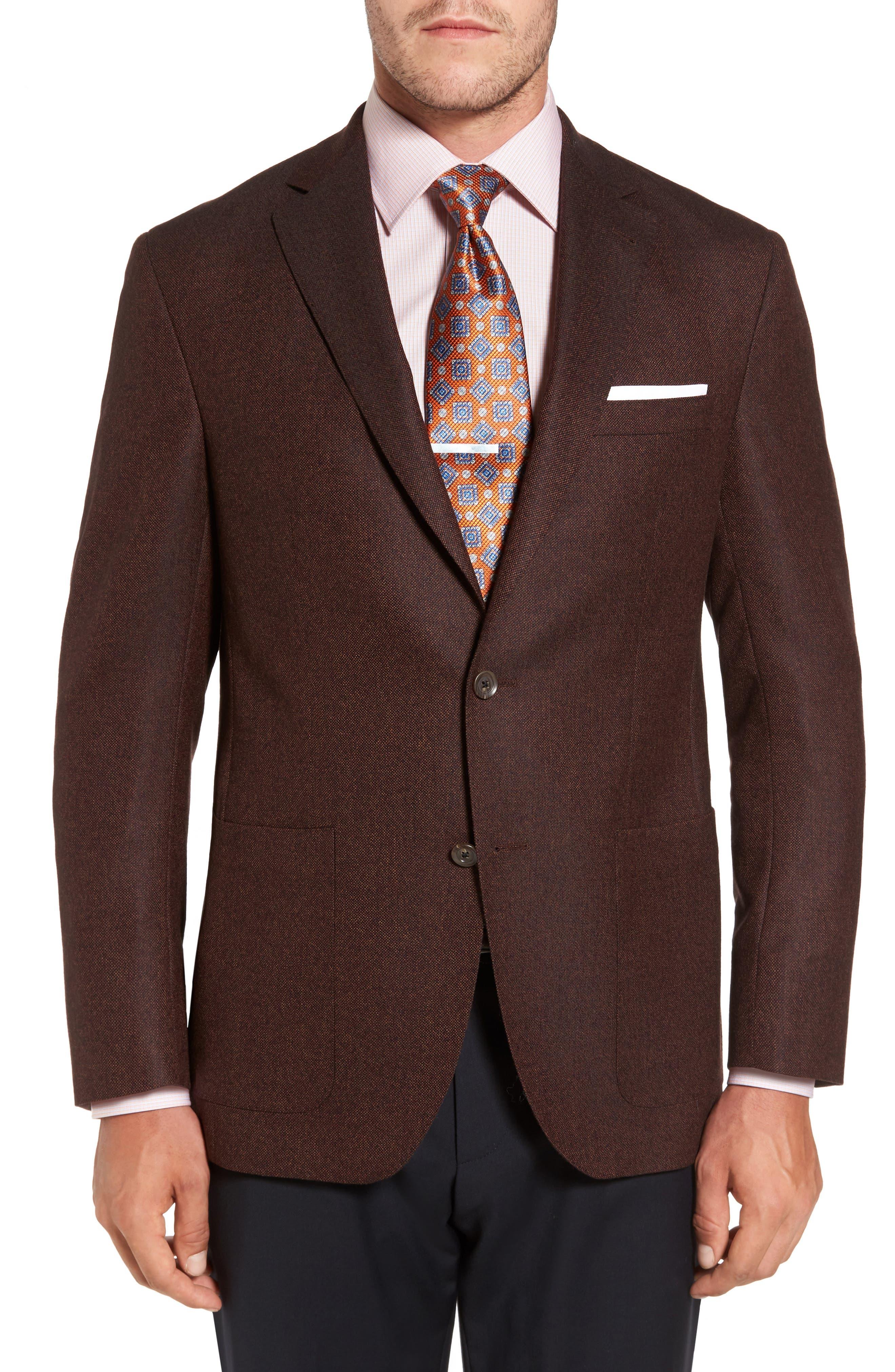 Aiden Classic Fit Wool Sport Coat,                         Main,                         color, Rust