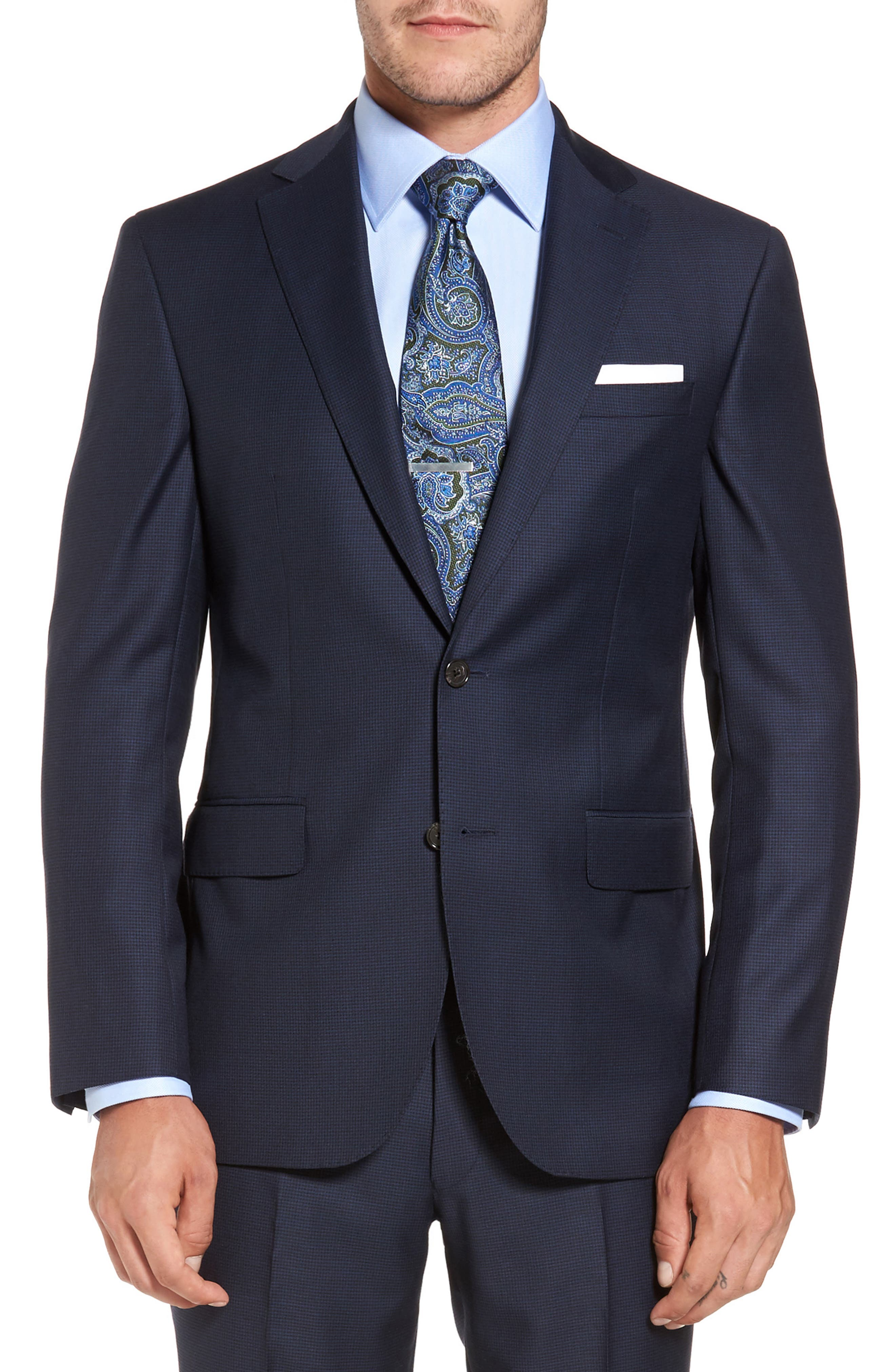 Ryan Classic Fit Wool Suit,                             Alternate thumbnail 5, color,                             Navy