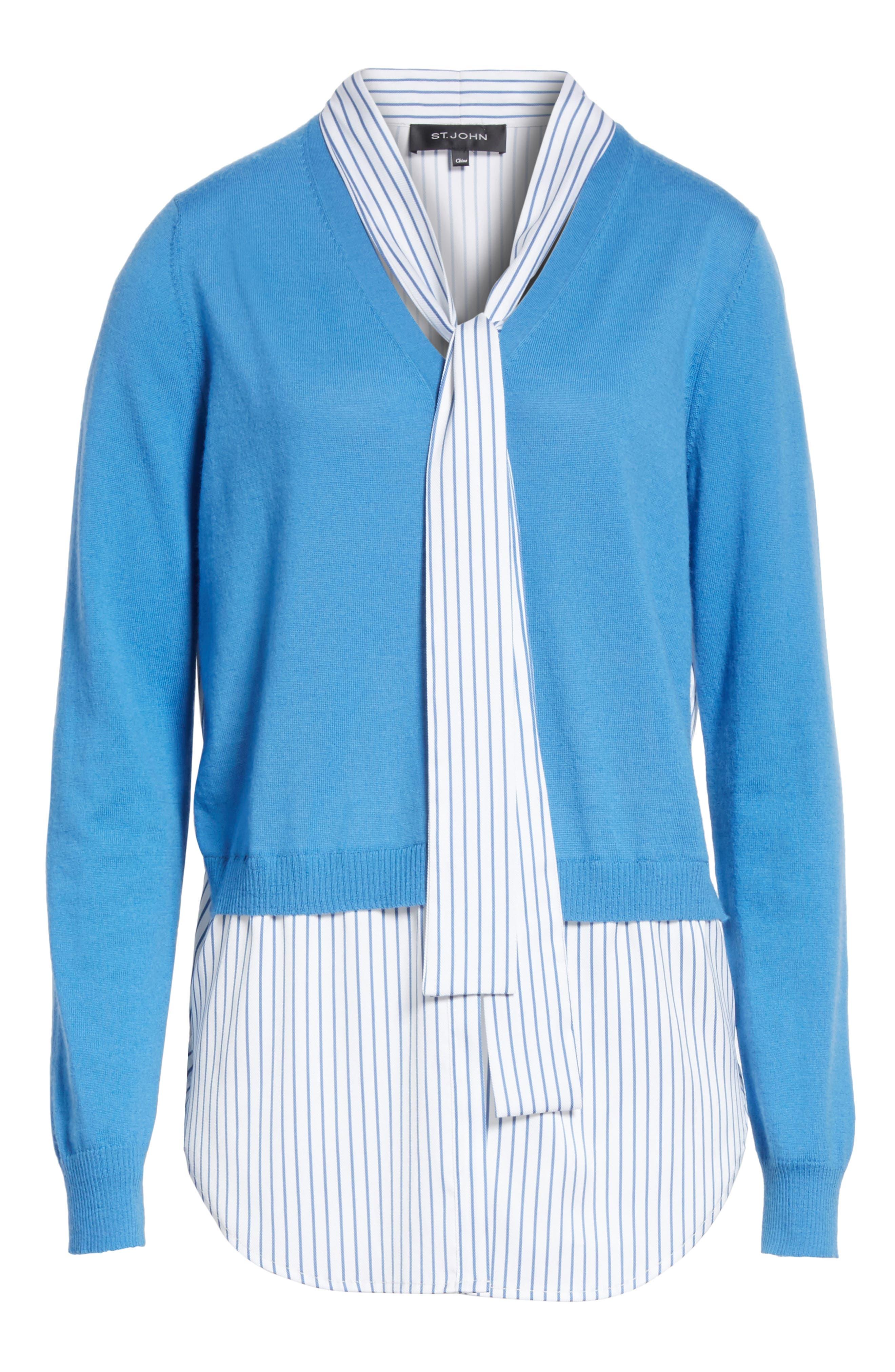 Alternate Image 6  - St. John Collection Layered Jersey Knit Cardigan