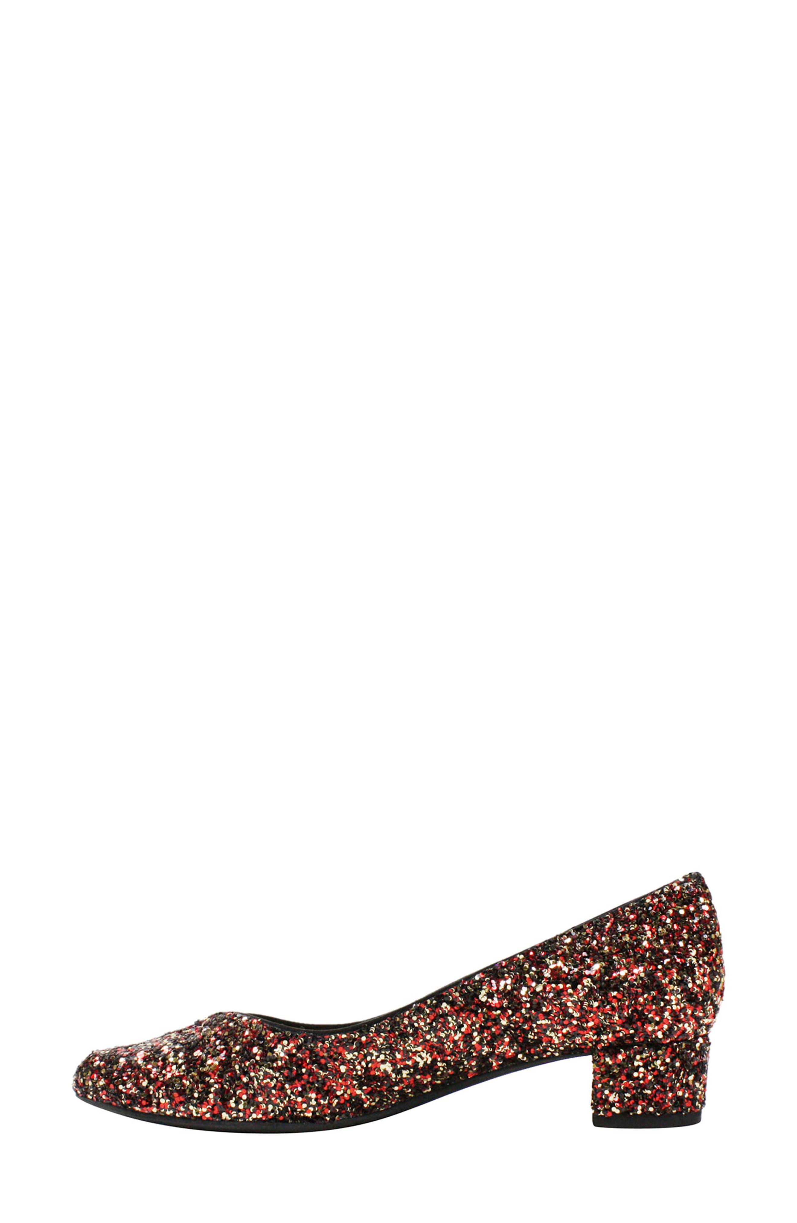 'Bambalina' Block Heel Glitter Pump,                             Alternate thumbnail 2, color,                             Burgundy Glitter Fabric