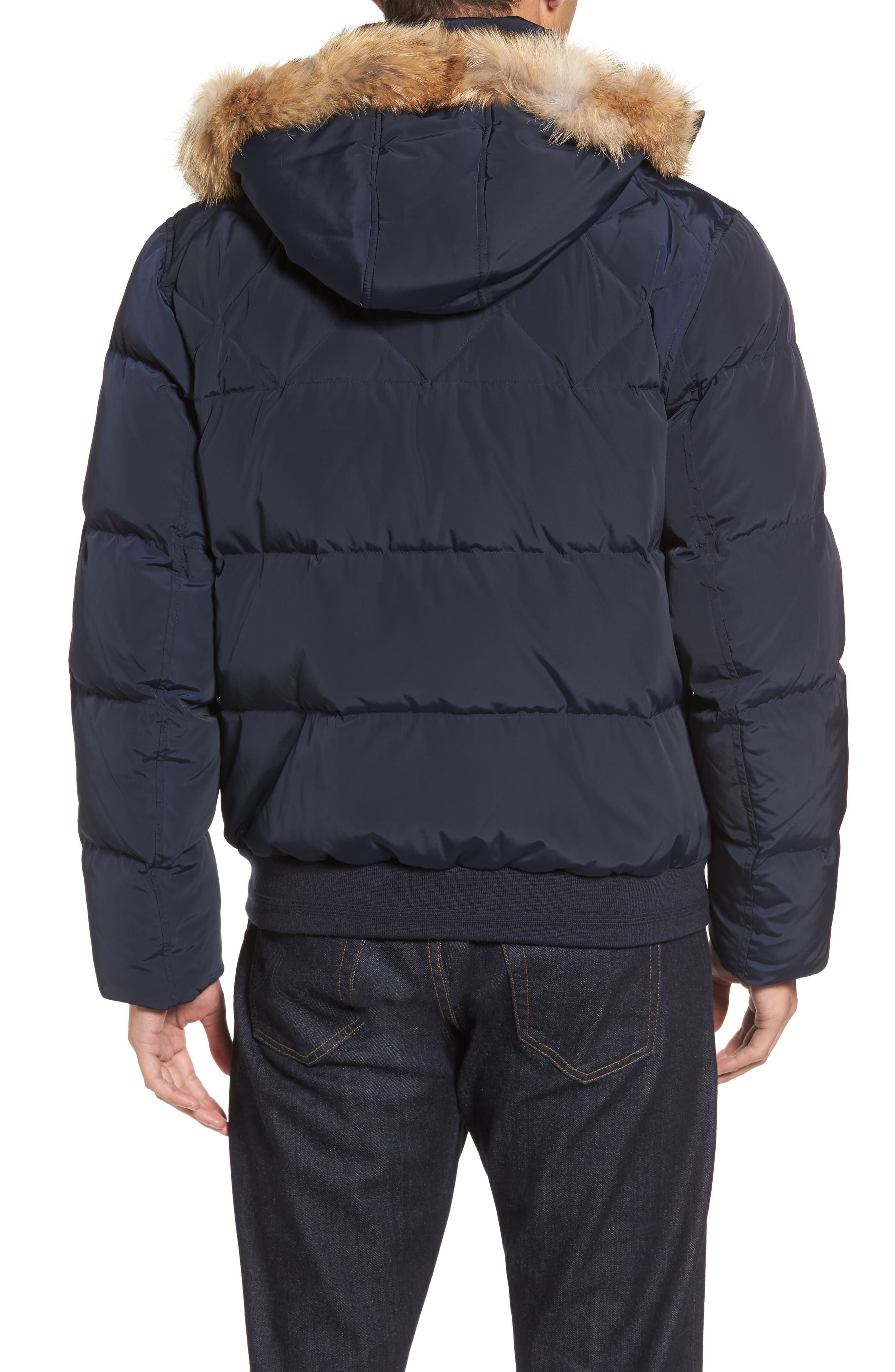 Alternate Image 2  - Marc New York Insulated Jacket with Genuine Coyote Fur