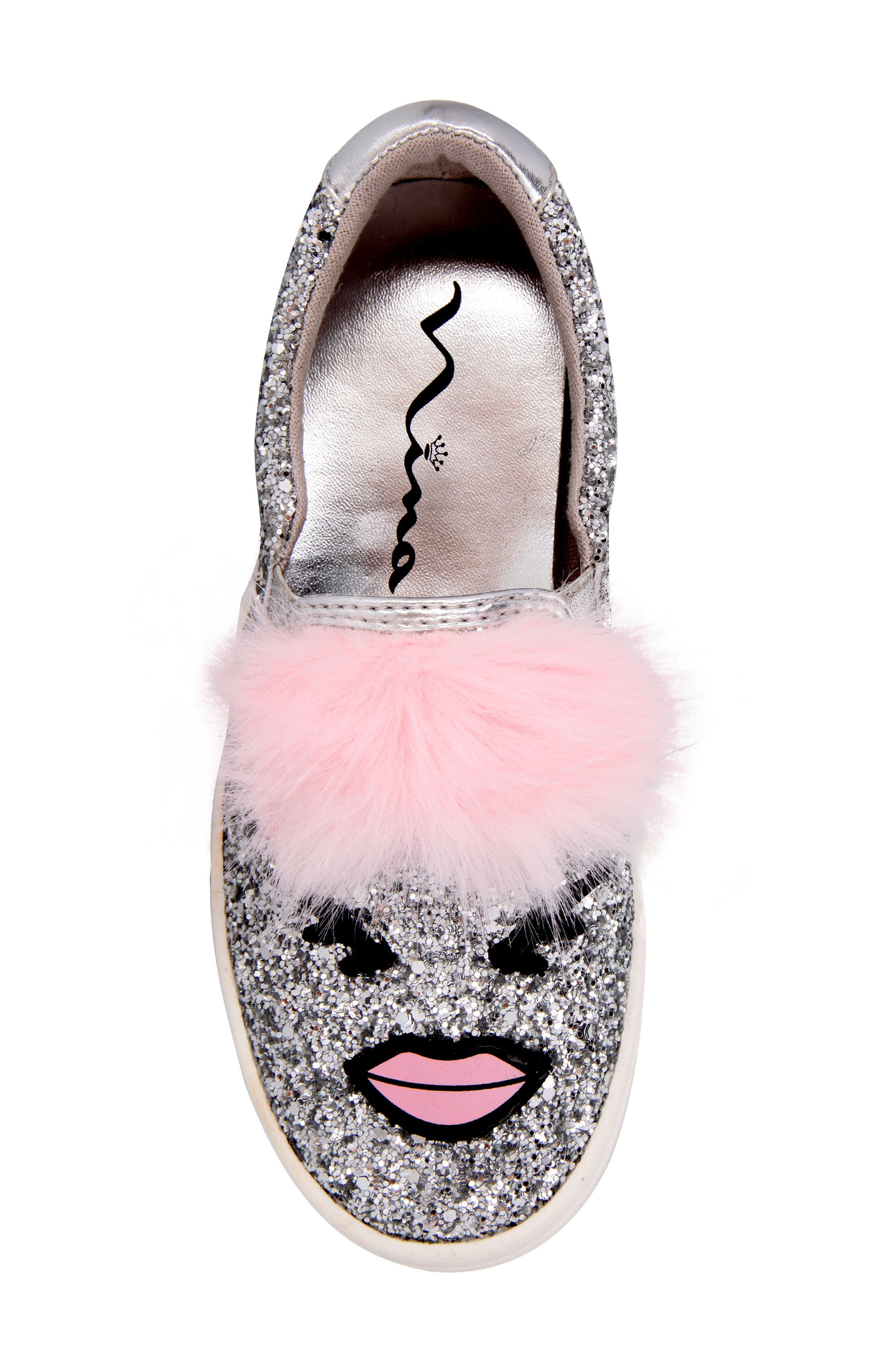 Alternate Image 5  - Nina Ragina Faux Fur Slip-On Sneaker (Little Kid & Big Kid)