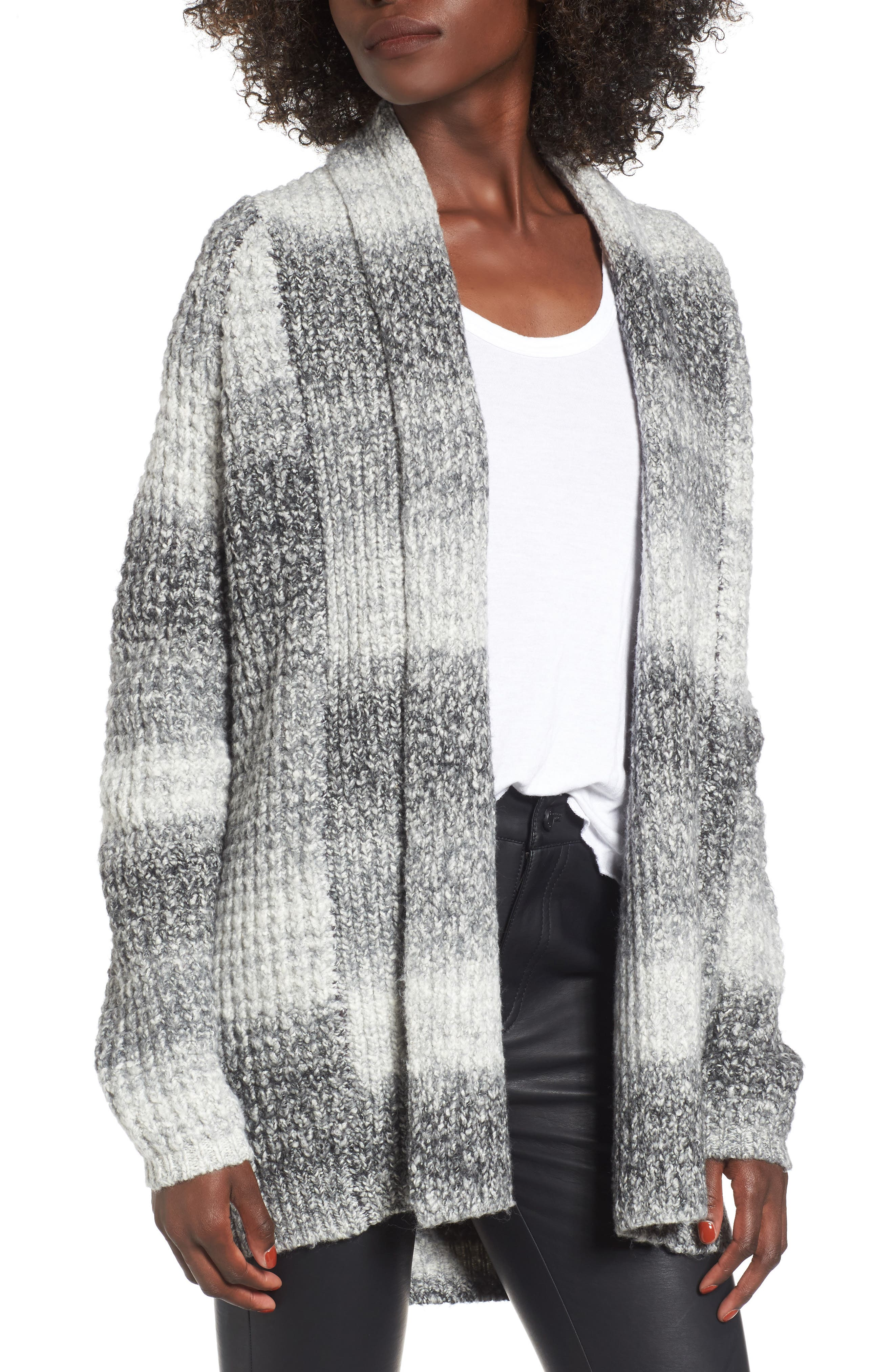 Ombré Cardigan,                             Main thumbnail 1, color,                             Grey Cloudy Ombre