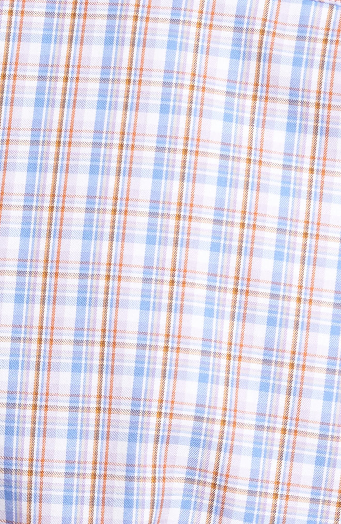 Alternate Image 5  - Peter Millar Alpine Regular Fit Plaid Sport Shirt