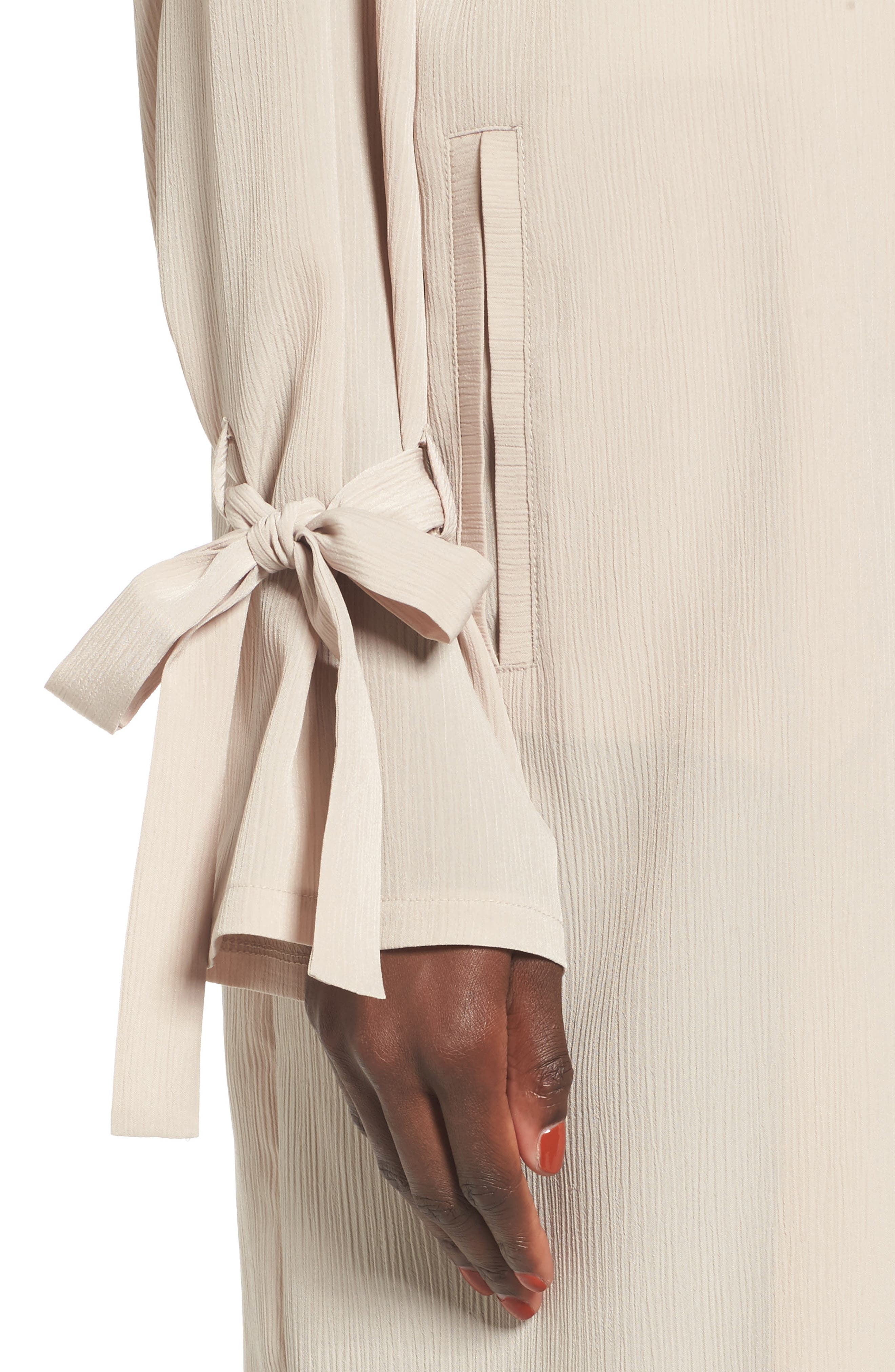 Tie Sleeve Jacket,                             Alternate thumbnail 4, color,                             Oxford Tan