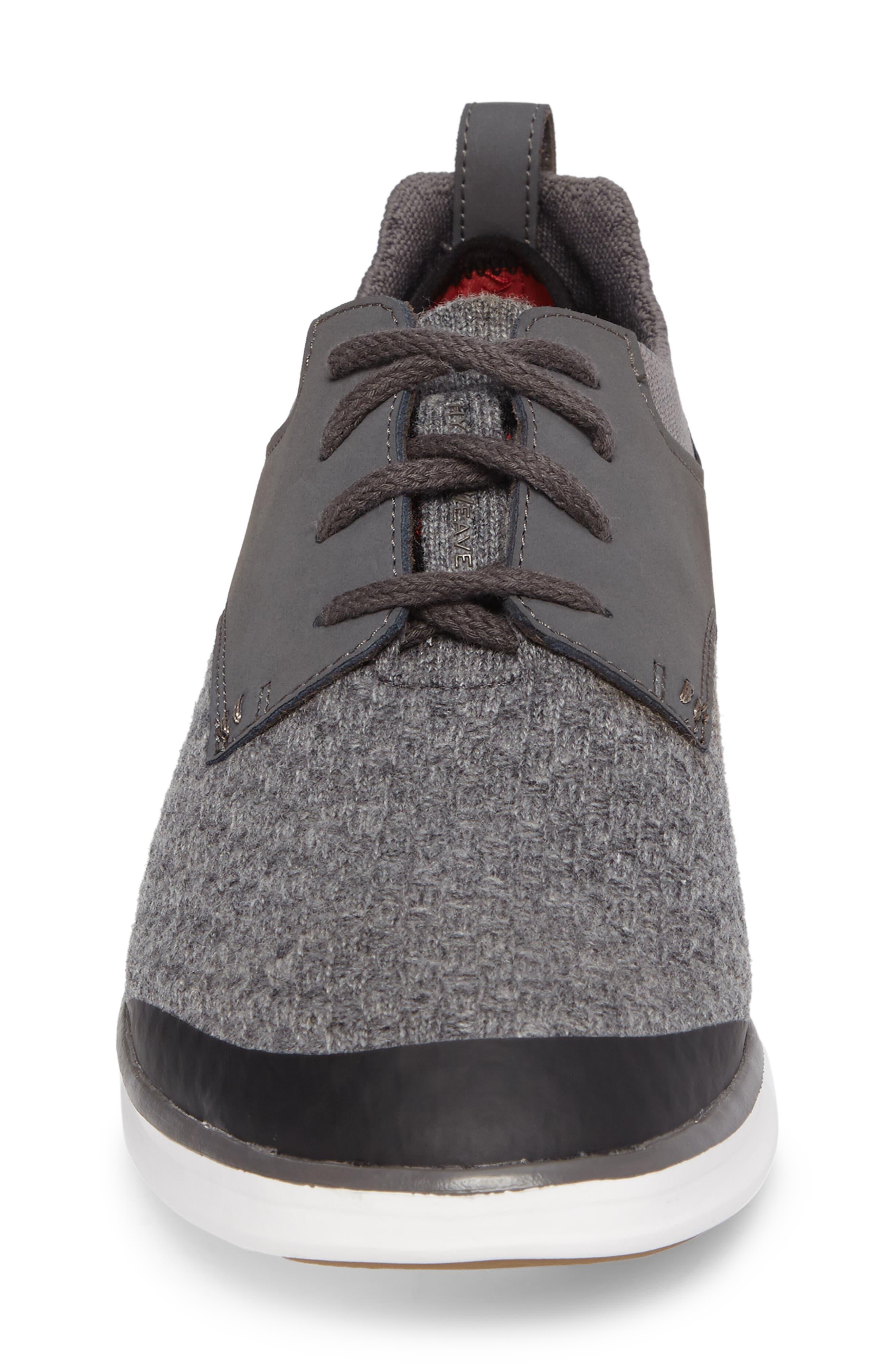 Hepner HyperWeave Sneaker,                             Alternate thumbnail 4, color,                             Dark Charcoal