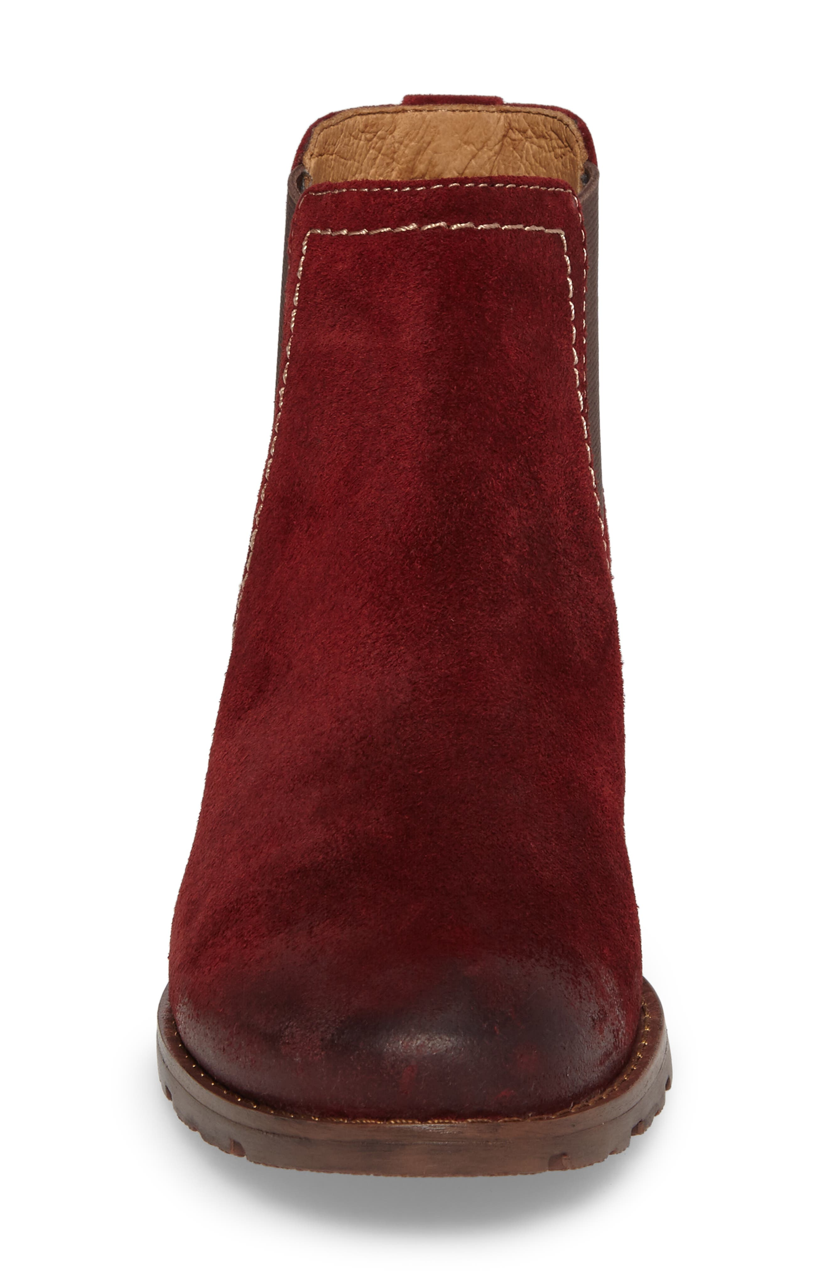 'Selby' Chelsea Bootie,                             Alternate thumbnail 4, color,                             Bordo Suede