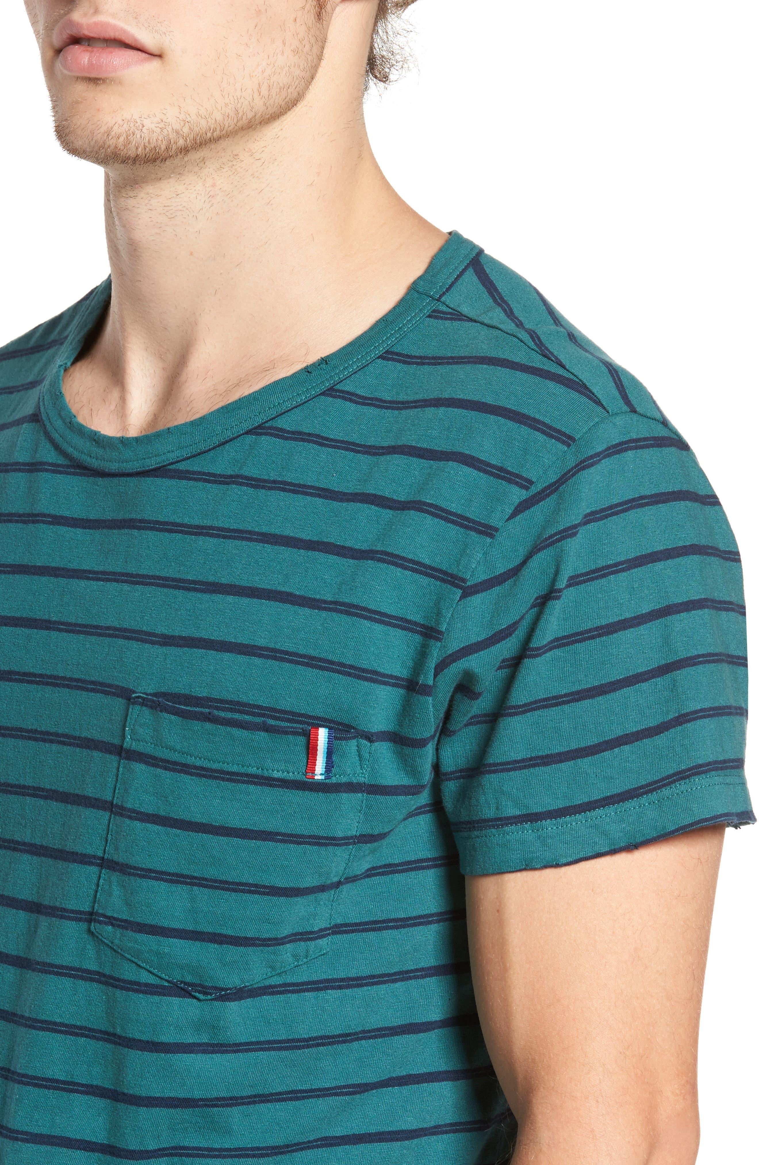 Alternate Image 4  - Sol Angeles Vintage Stripe Pocket T-Shirt