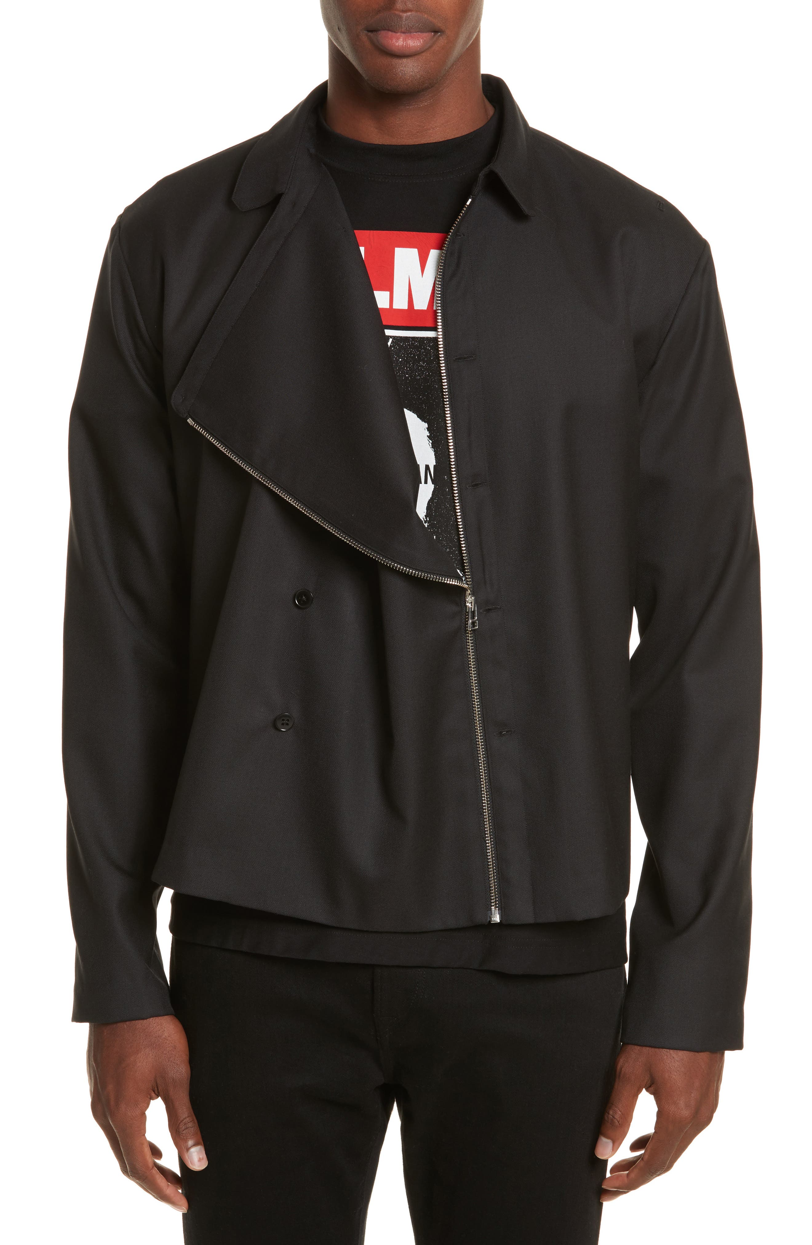 Expandable Jacket,                         Main,                         color, Black