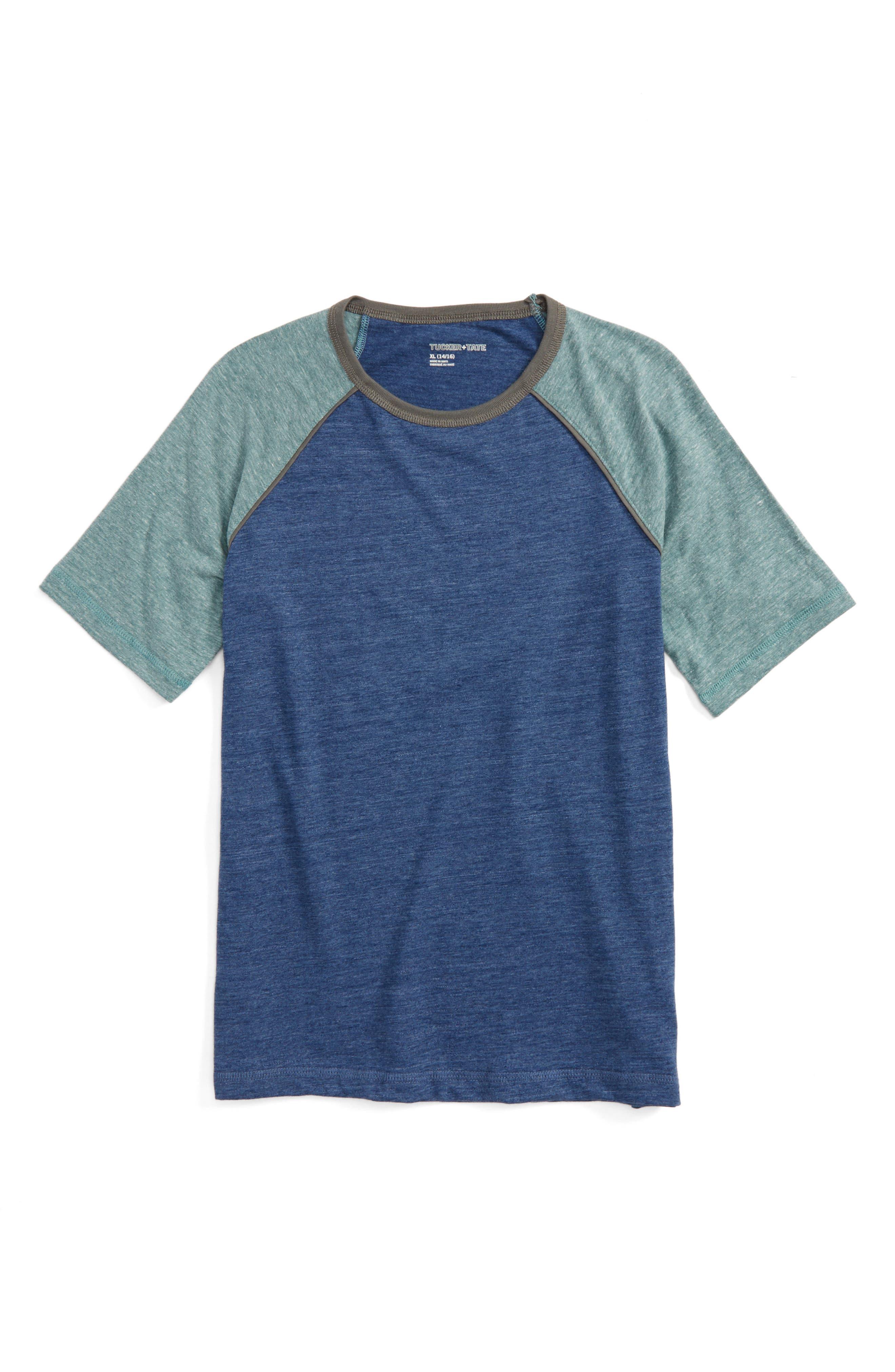 Baseball T-Shirt,                         Main,                         color, Blue Estate- Green