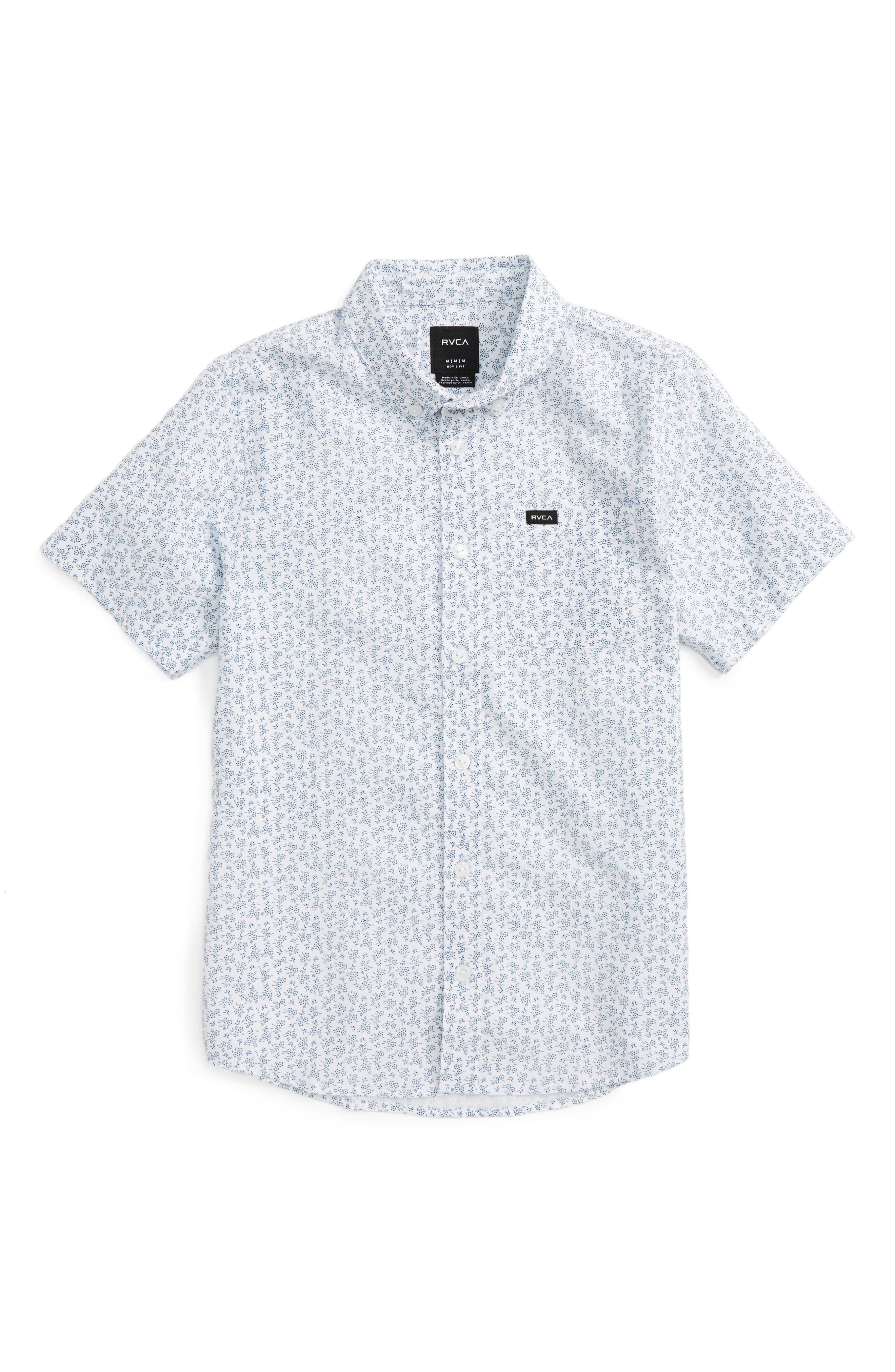 RVCA That'll Do Floral Print Woven Shirt (Big Boys)