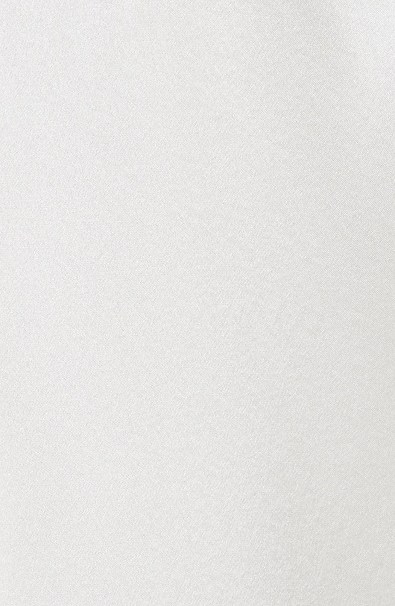 Korlan Lace Trim Silk Top,                             Alternate thumbnail 5, color,                             Ivory/ Black