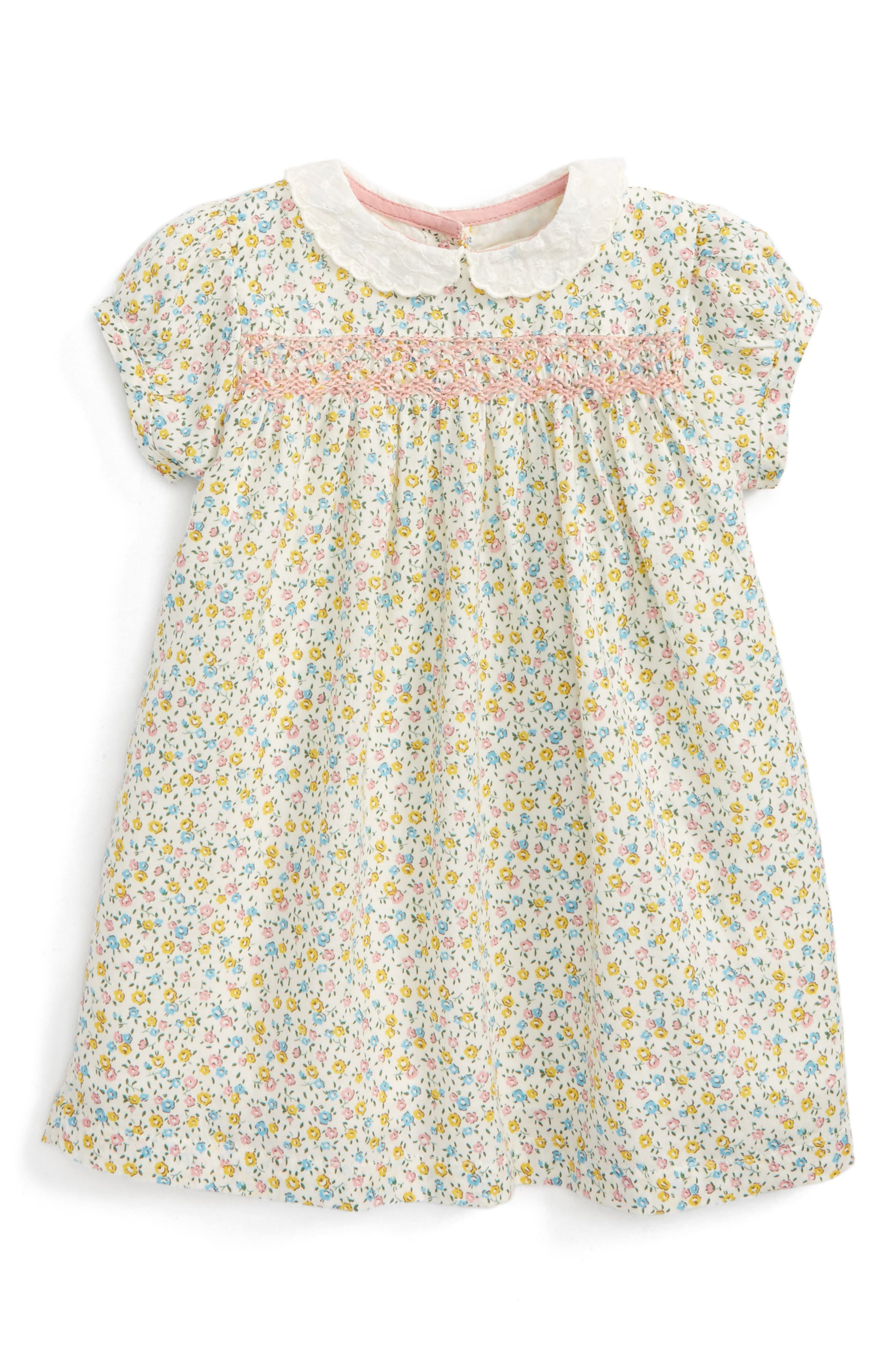 Mini Boden Pretty Print Smocked Dress (Baby Girls & Toddler Girls)