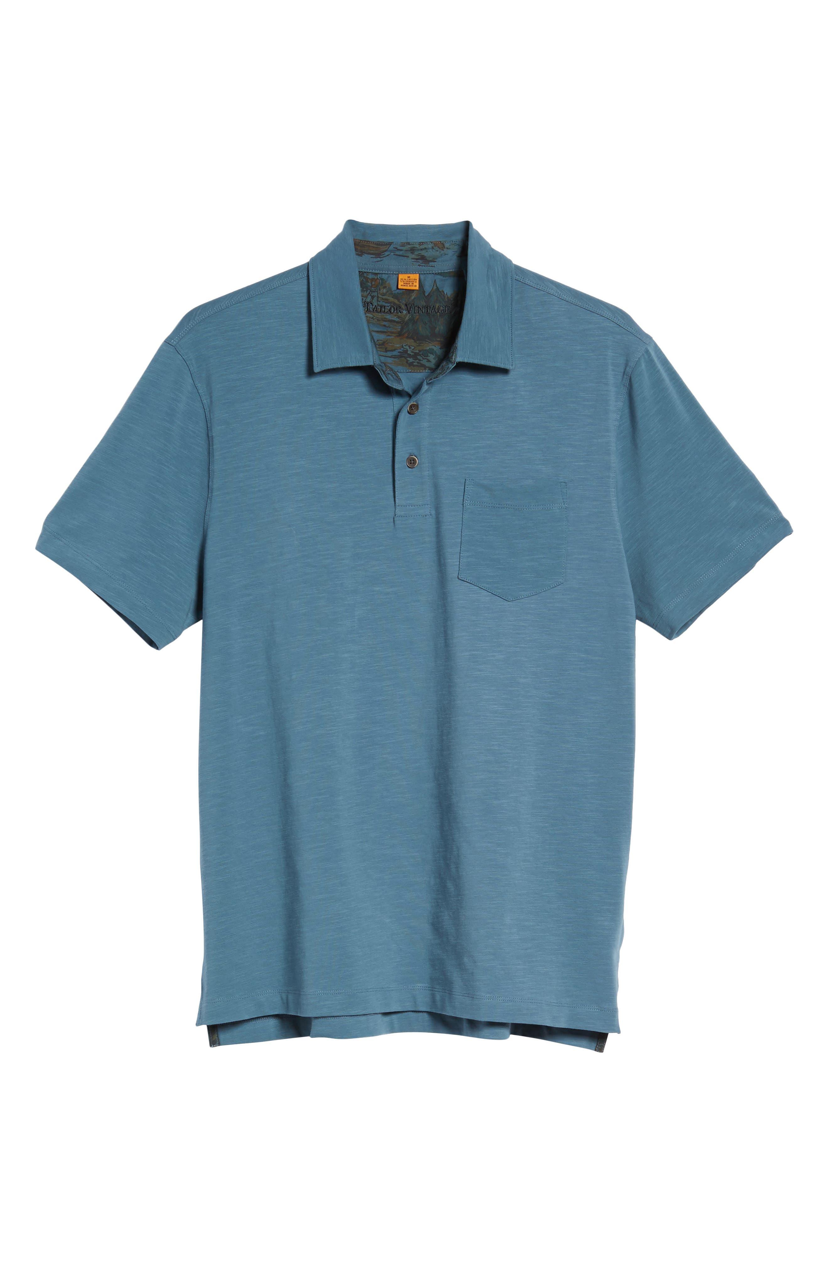 Alternate Image 6  - Tailor Vintage Stretch Slub Jersey Polo