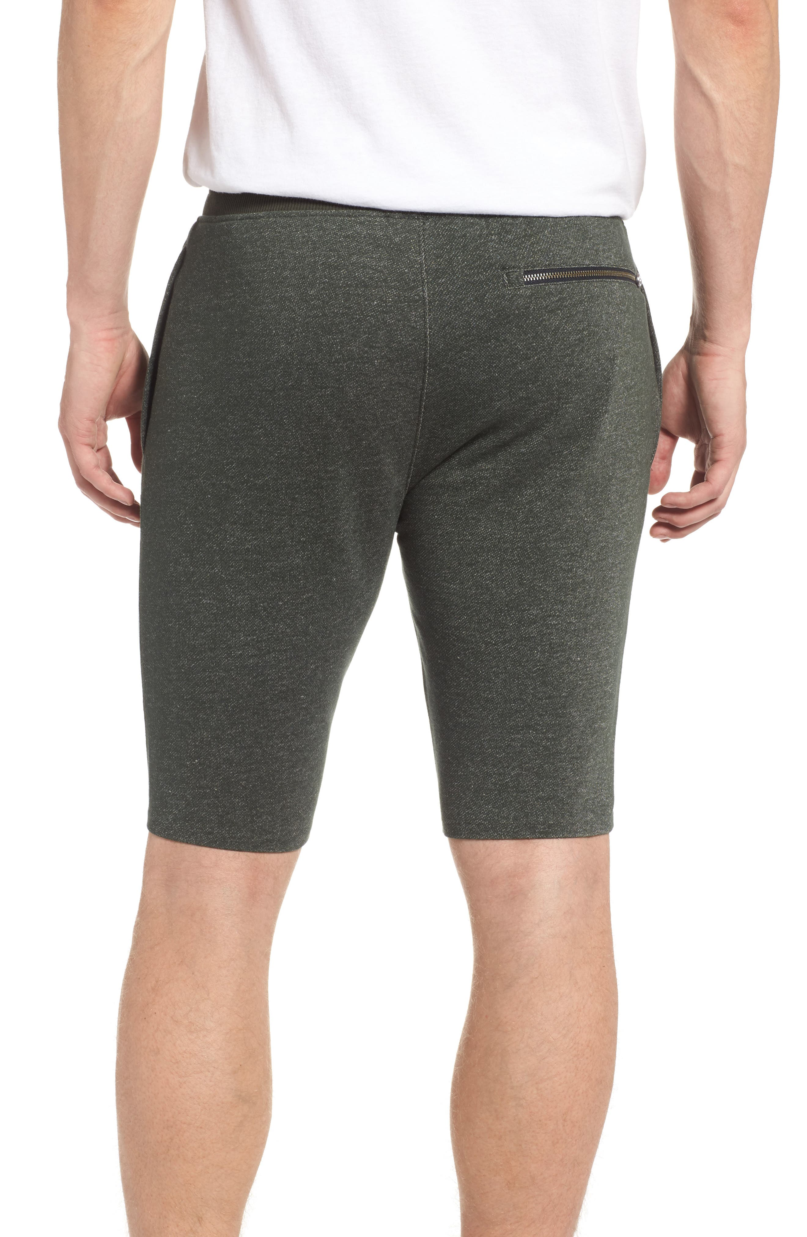 Terry Knit Athletic Shorts,                             Alternate thumbnail 2, color,                             Artillery Green / Black
