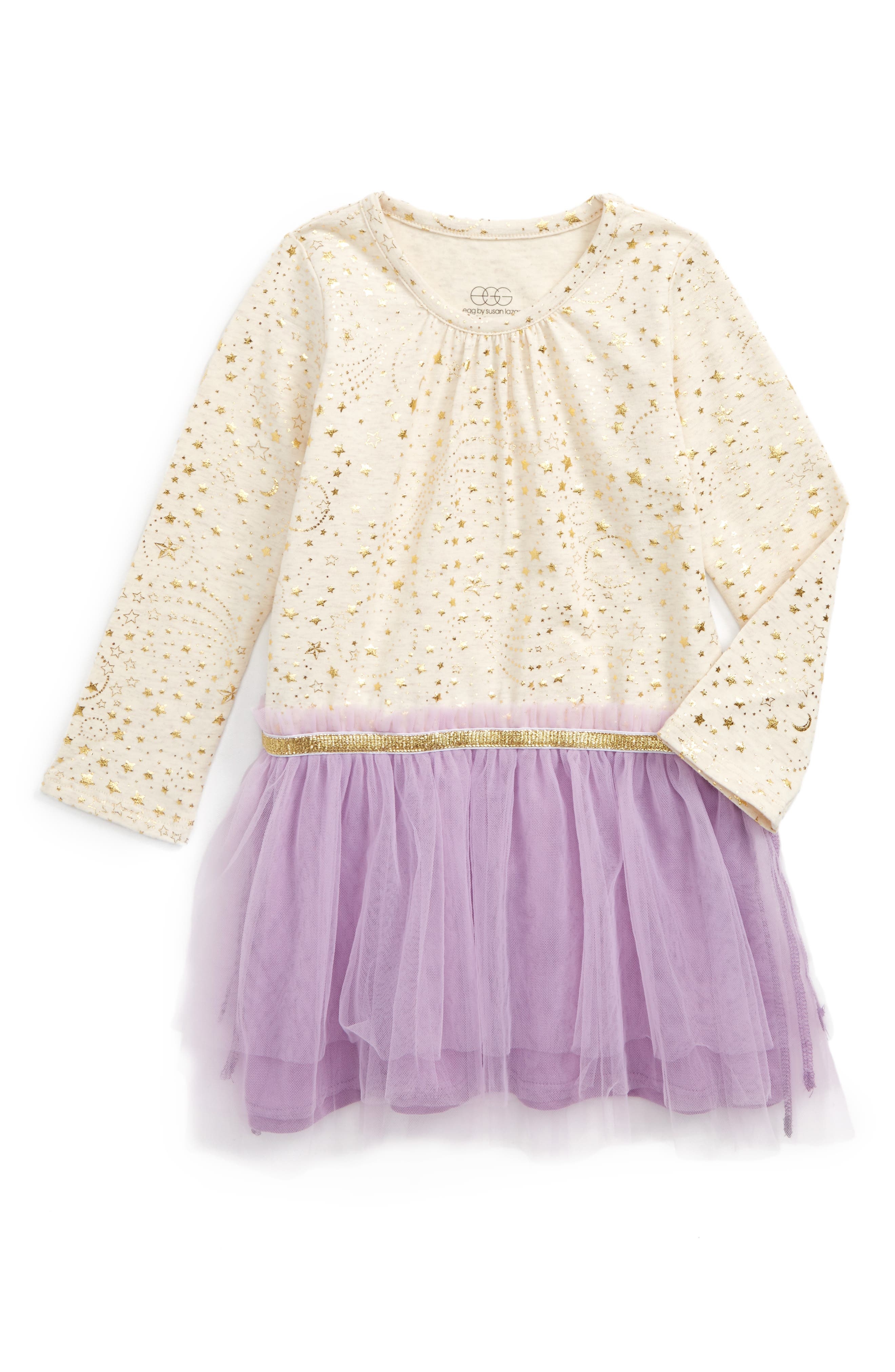 egg by susan lazar Amy Mixed Media Dress (Baby Girls)